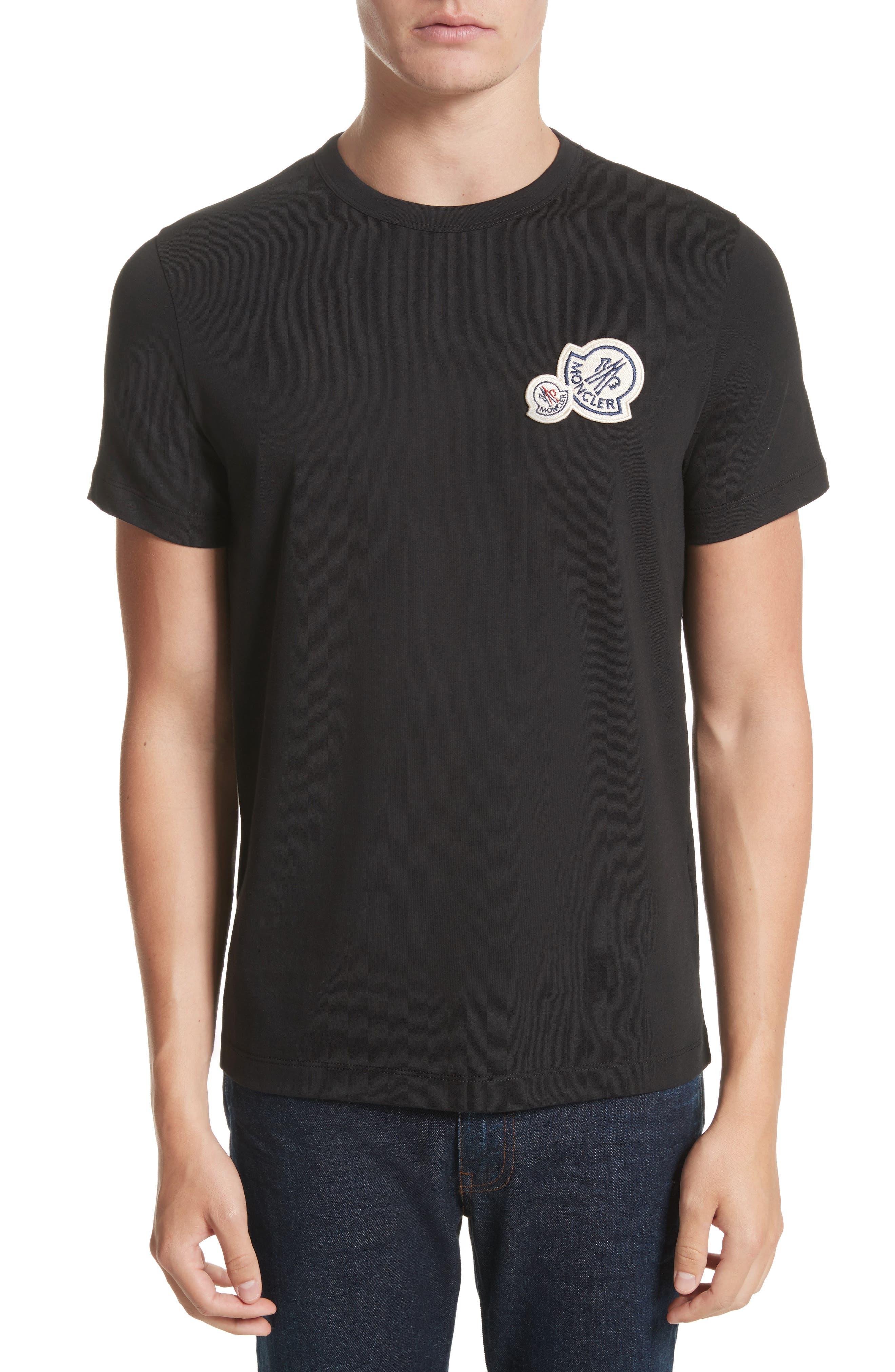 Patch Detail T-Shirt,                             Main thumbnail 1, color,                             001
