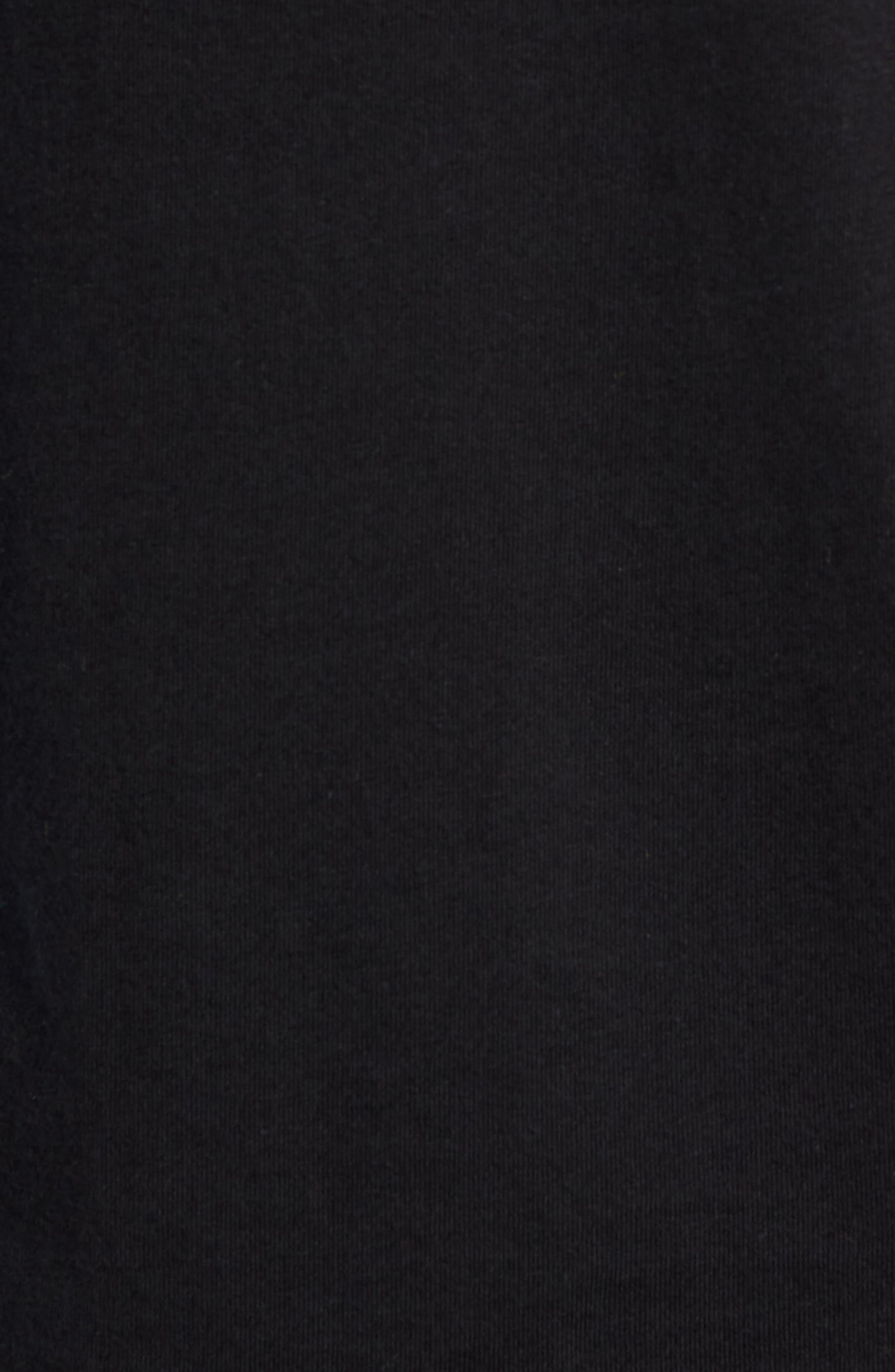 TJM Logo Graphic Long Sleeve T-Shirt,                             Alternate thumbnail 5, color,                             TOMMY BLACK