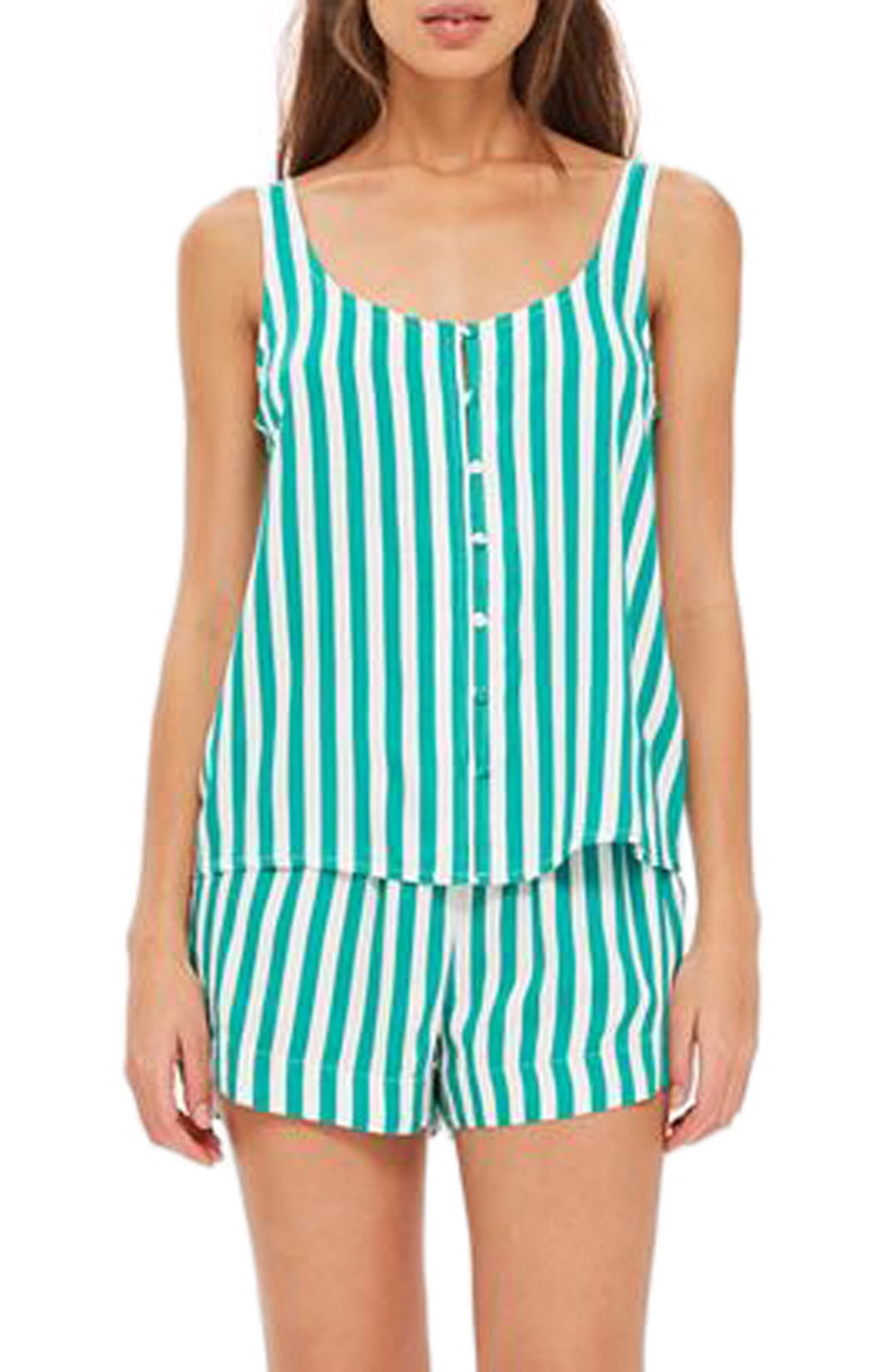Humbug Stripe Short Pajamas,                             Main thumbnail 1, color,                             300