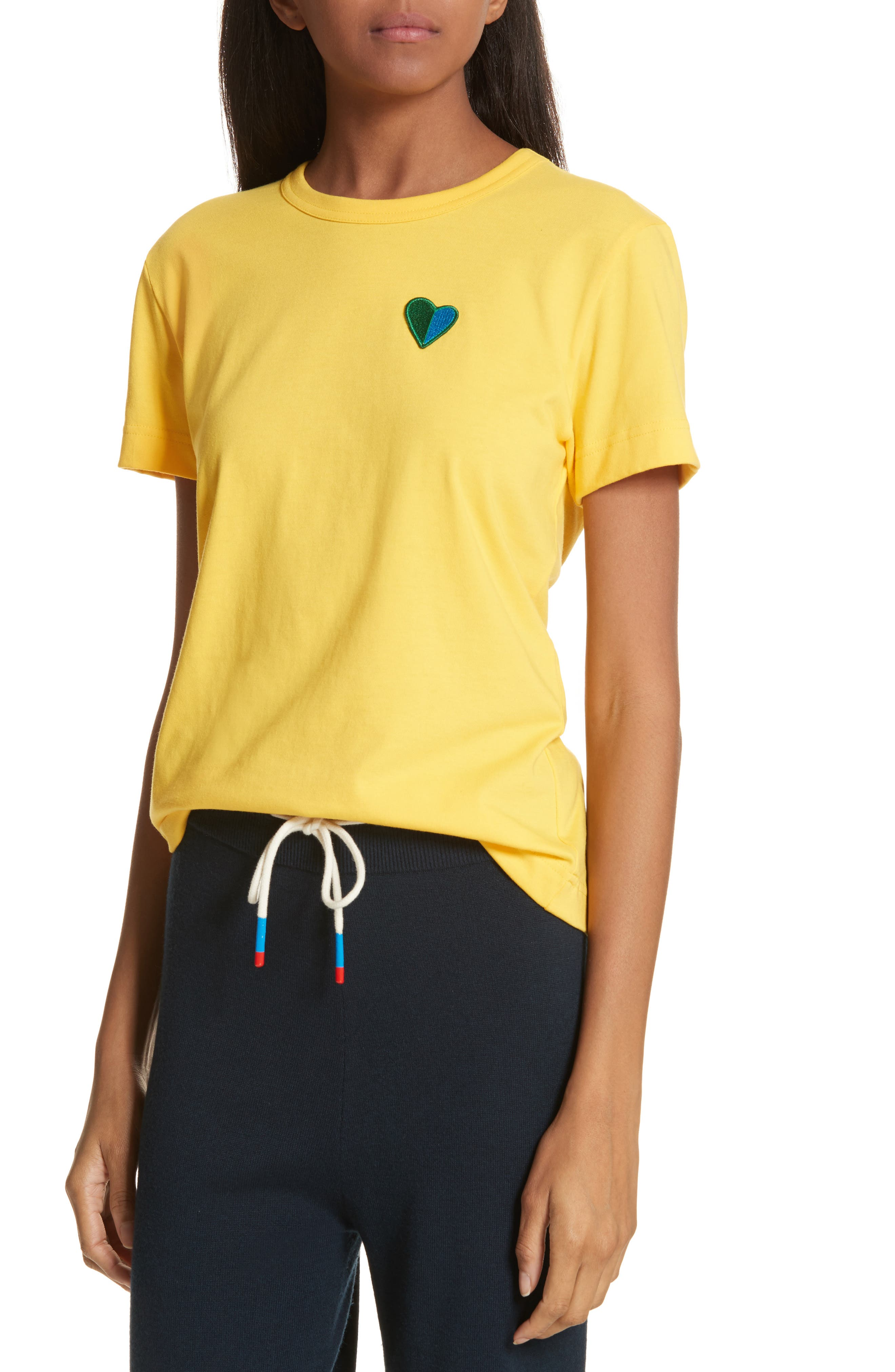 Heart Patch Tee,                             Alternate thumbnail 4, color,                             707