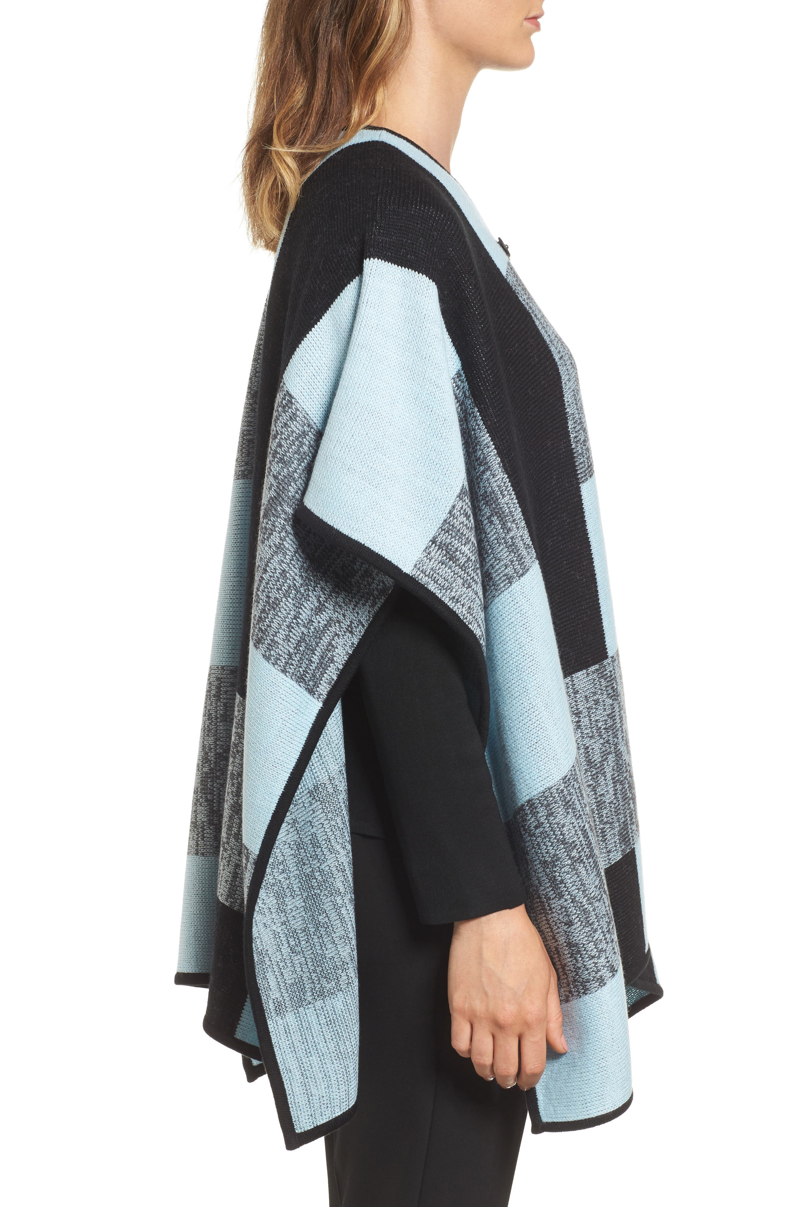 Buckle Front Poncho Cardigan,                             Alternate thumbnail 3, color,                             401