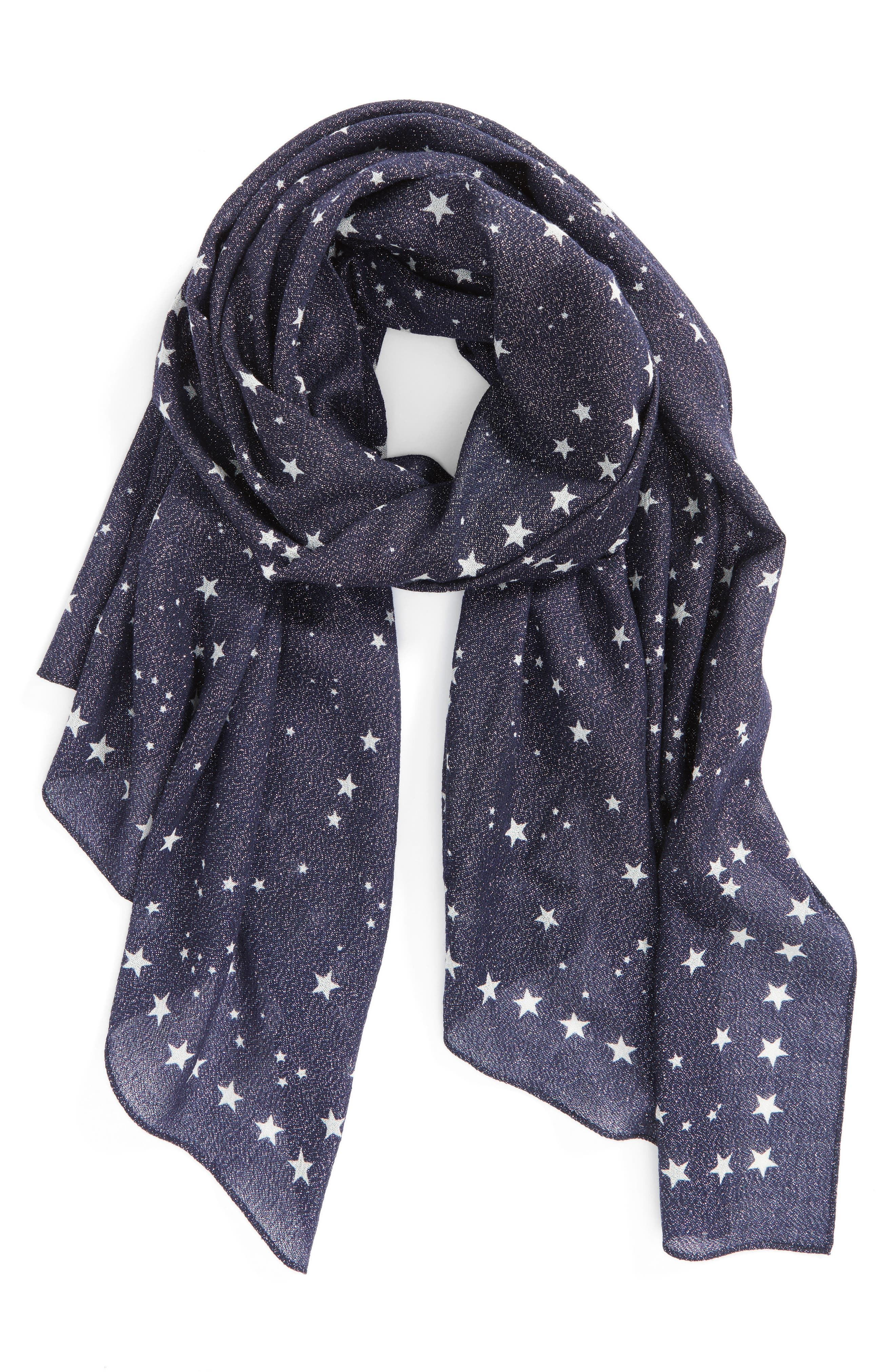 night sky wool blend scarf,                             Alternate thumbnail 2, color,