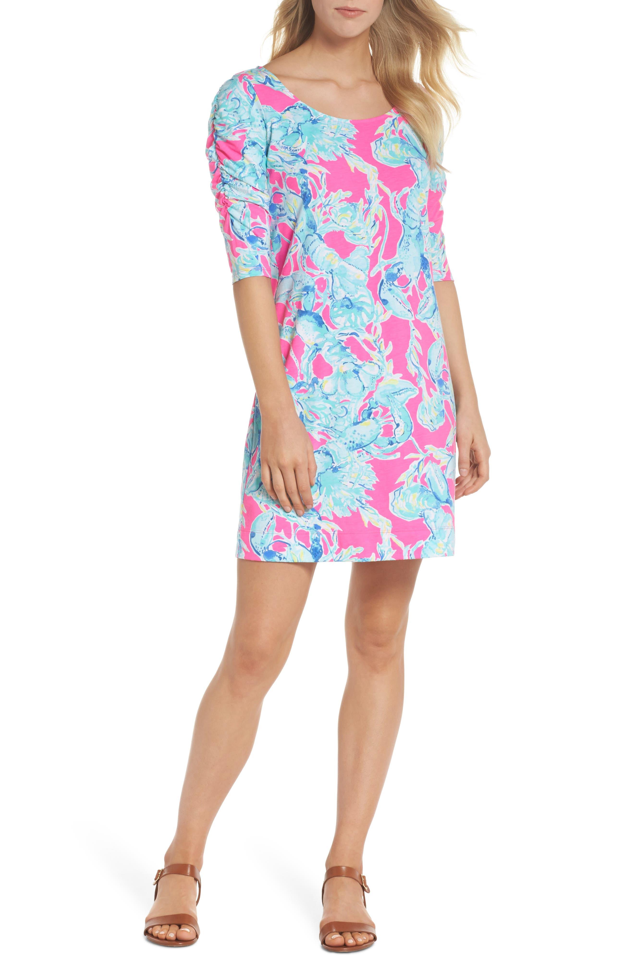 Lajolla T-Shirt Dress,                             Alternate thumbnail 5, color,                             400