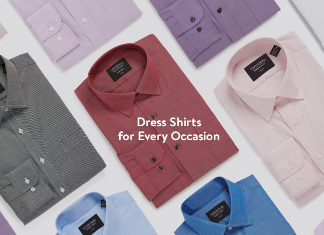 Dress shirts for every occasion.
