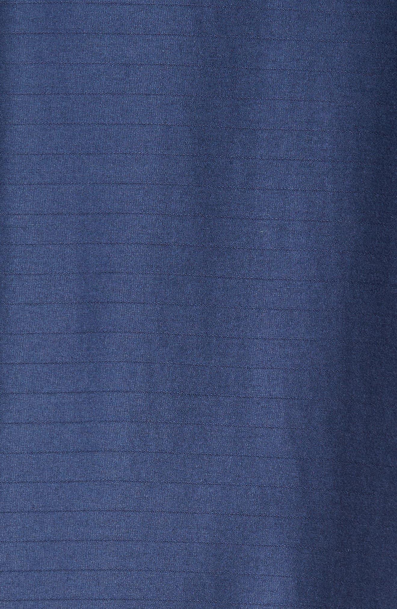 Pima Cotton & Modal Crewneck T-Shirt,                             Alternate thumbnail 5, color,                             NAVY