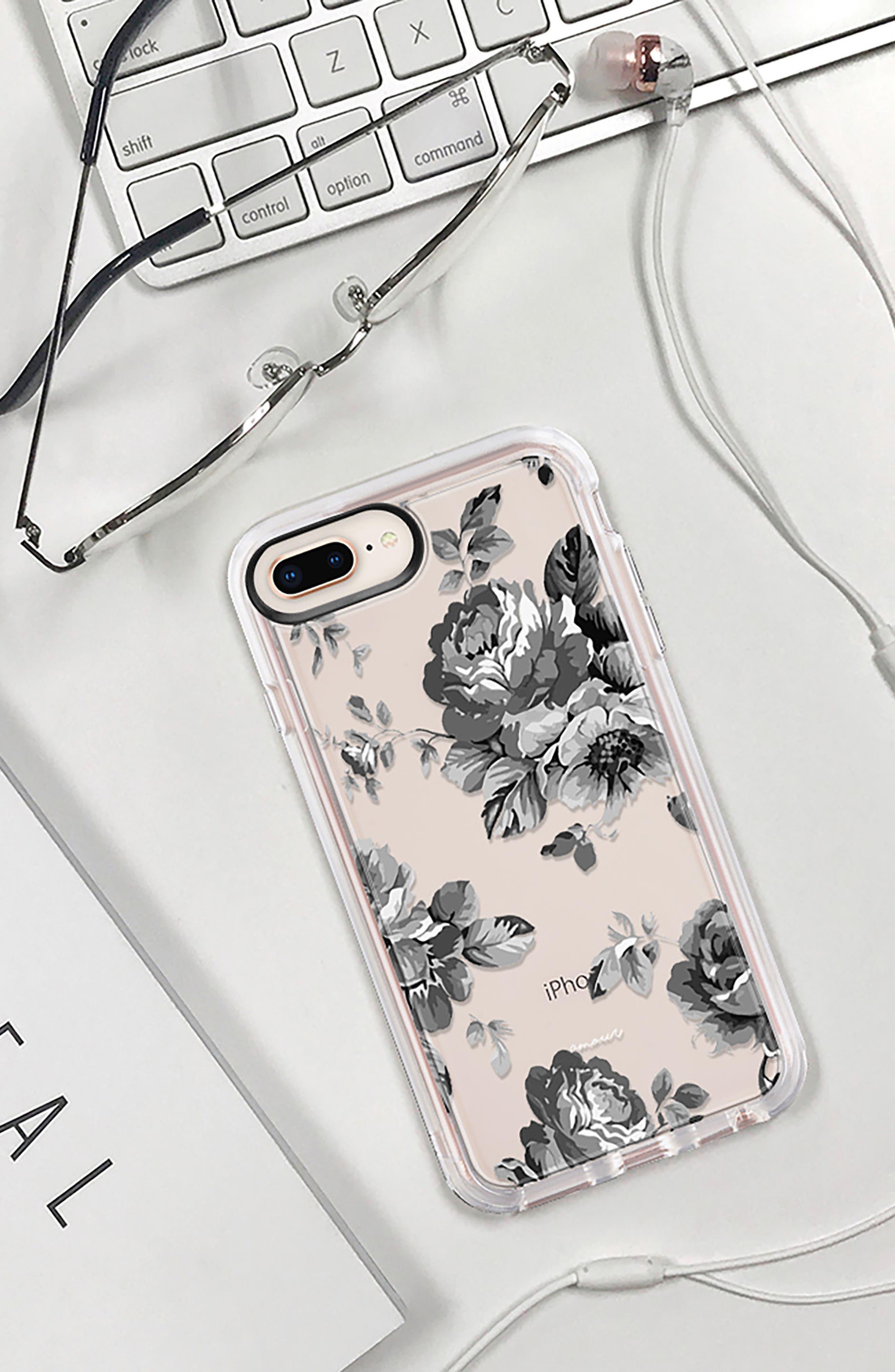Black Floral iPhone 7/8 & 7/8 Plus Case,                             Alternate thumbnail 9, color,                             020
