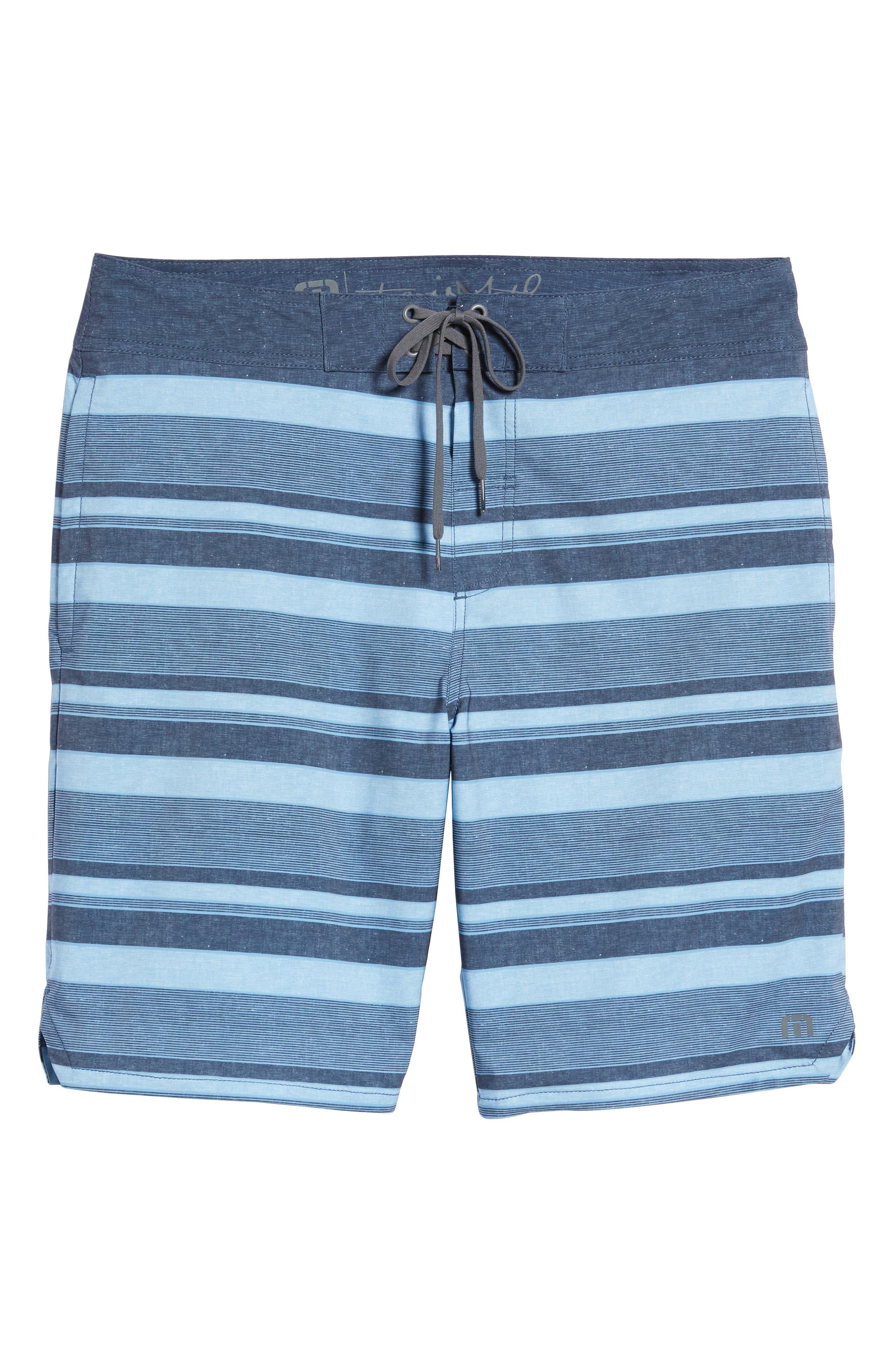 Colinas Regular Fit Board Shorts,                             Alternate thumbnail 6, color,                             HEATHER BLUESTONE