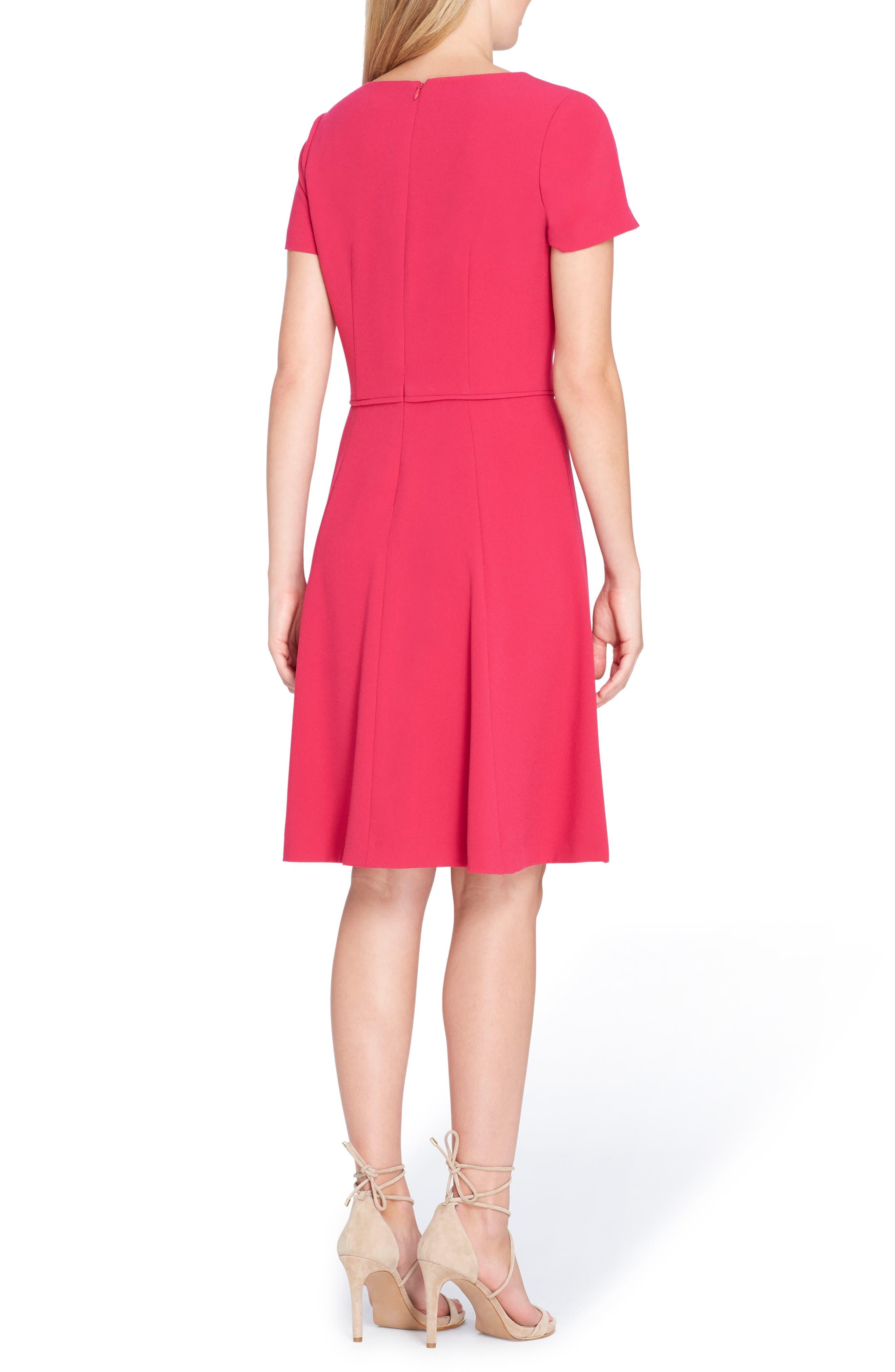 Scallop Neck A-Line Dress,                             Alternate thumbnail 2, color,                             677