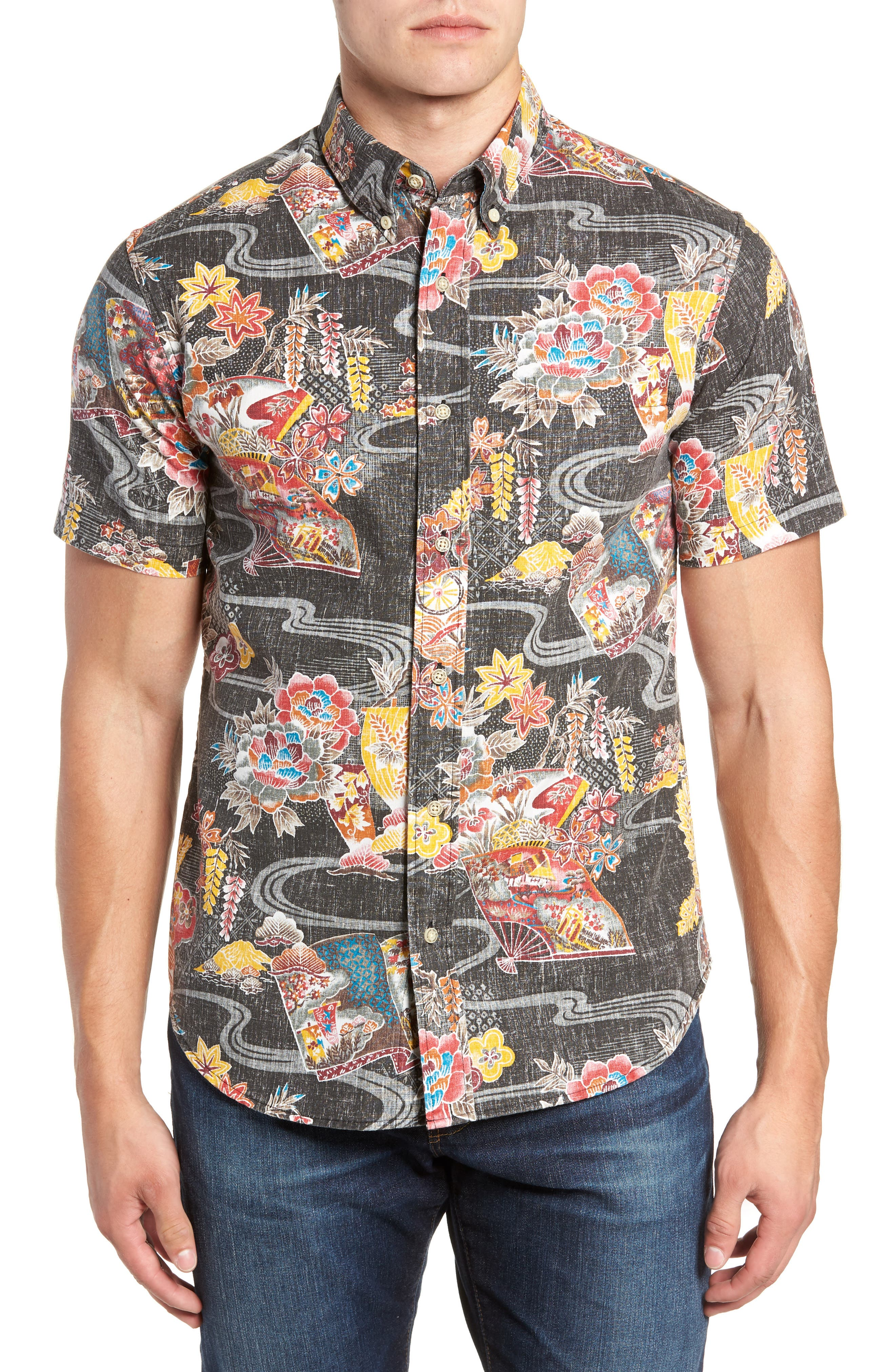 Mizu No Kokoro Regular Fit Sport Shirt,                         Main,                         color, 001