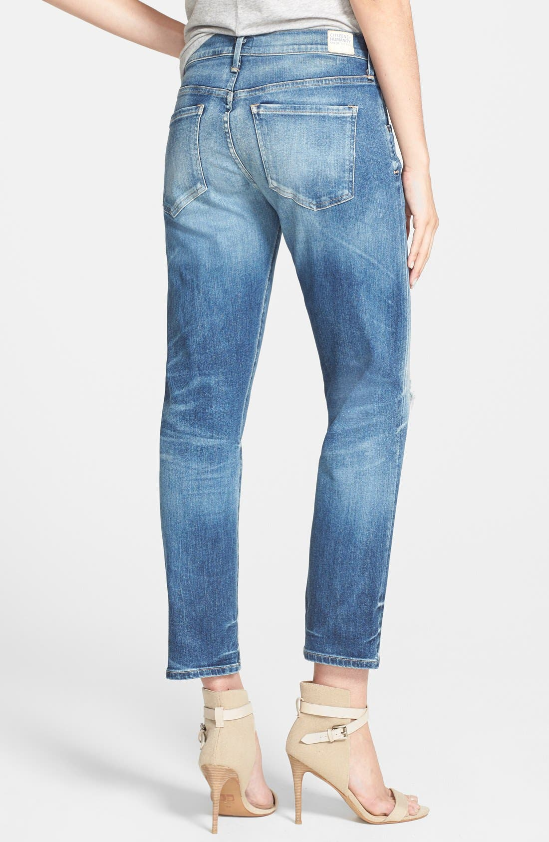 CITIZENS OF HUMANITY,                             'Emerson' Destroyed Slim Boyfriend Jeans,                             Alternate thumbnail 2, color,                             486