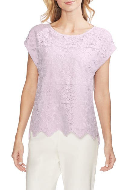 Vince Camuto Tops LACE OVERLAY TOP