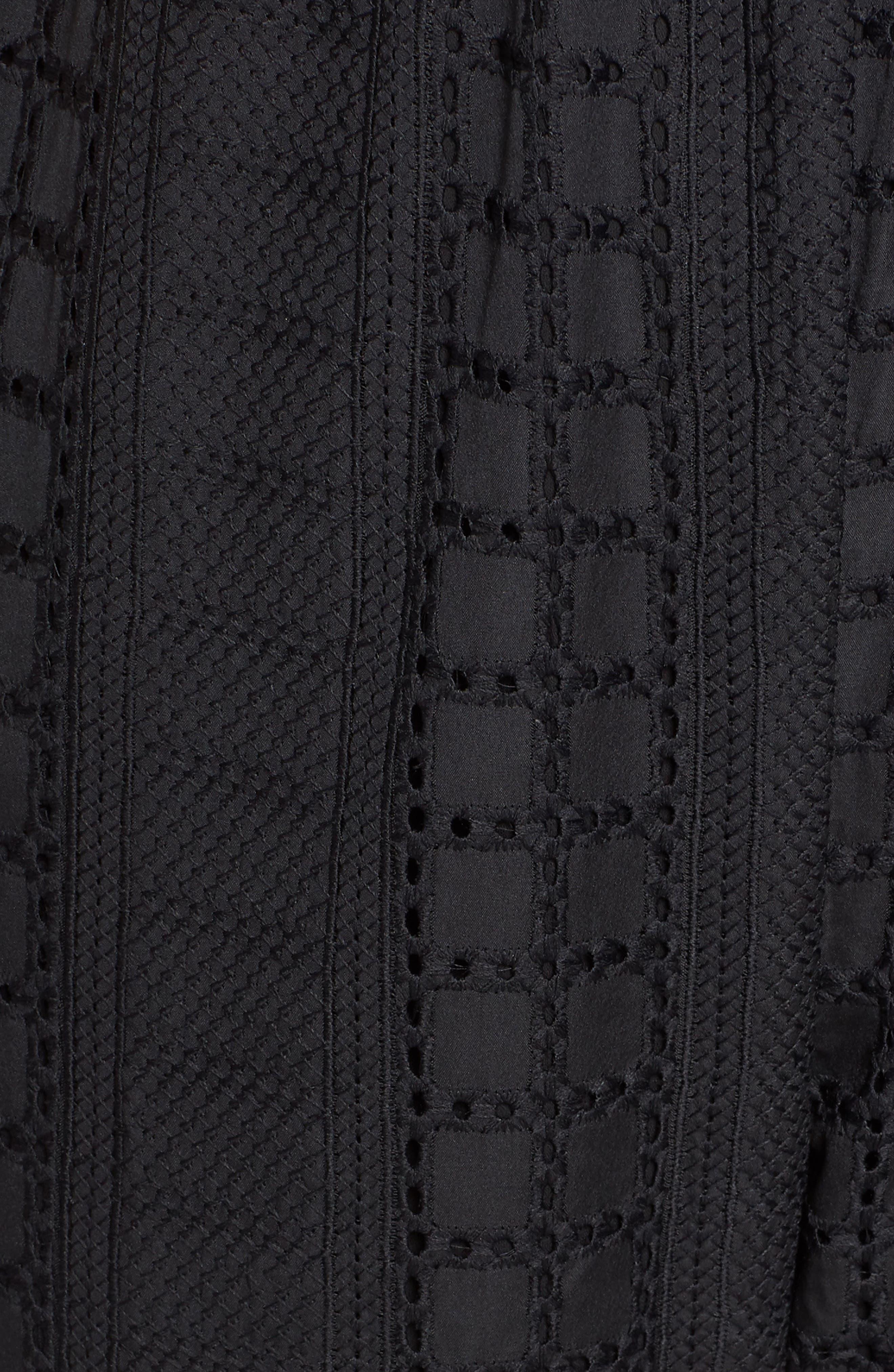 Ruffle Waist Sleeveless Jumpsuit,                             Alternate thumbnail 6, color,                             BLACK