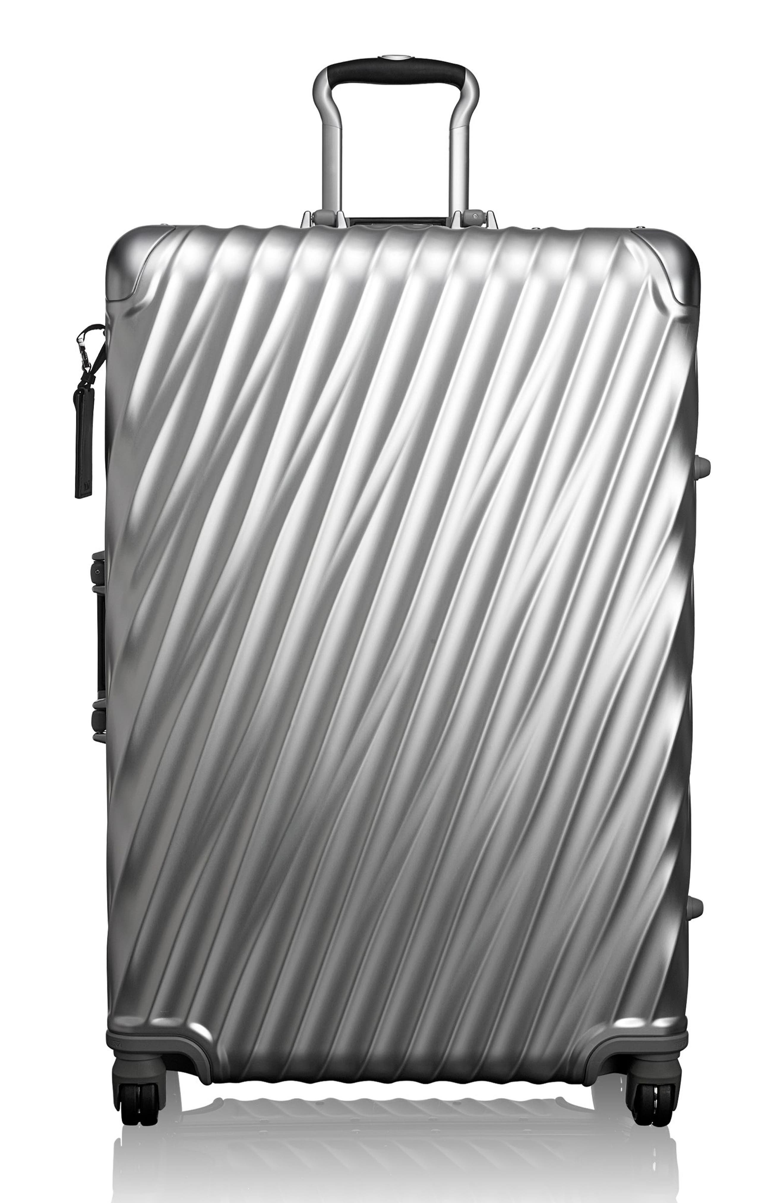 TUMI,                             19 Degree 31-Inch Extended Trip Wheeled Aluminum Packing Case,                             Main thumbnail 1, color,                             SILVER