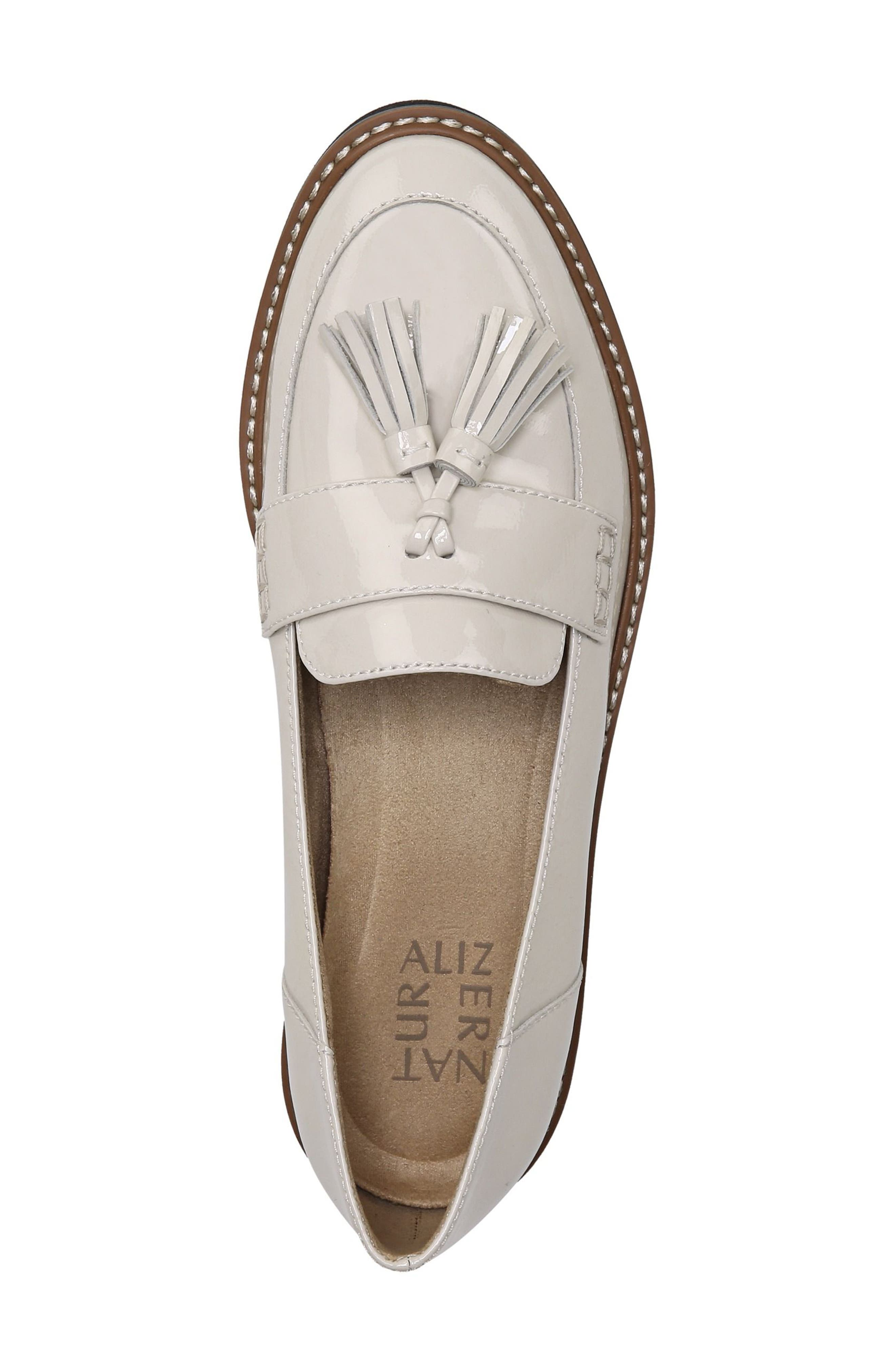 August Loafer,                             Alternate thumbnail 5, color,                             ALABASTER LEATHER