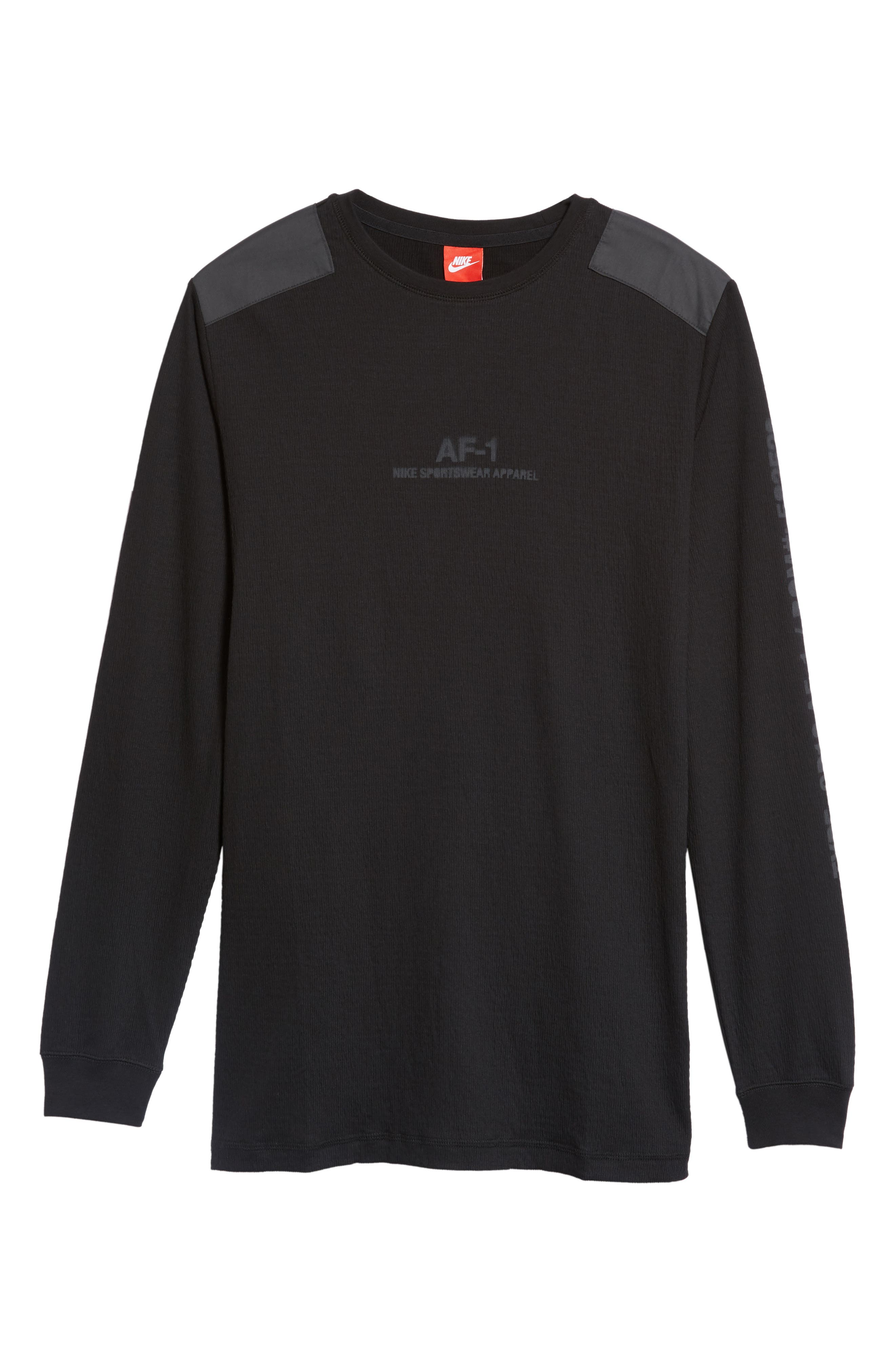 Sportswear AF-1 Long Sleeve Shirt,                             Alternate thumbnail 6, color,                             010