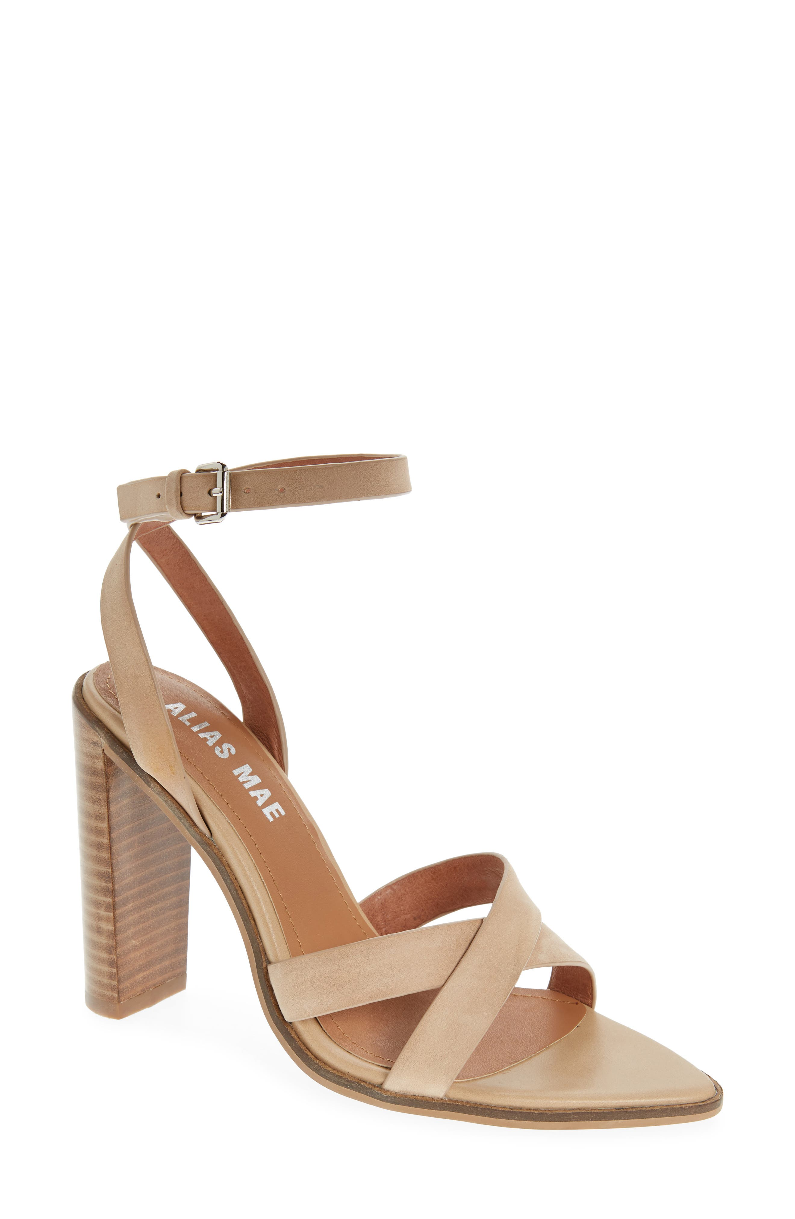 ALIAS MAE Sonny Block Heel Sandal in Natural