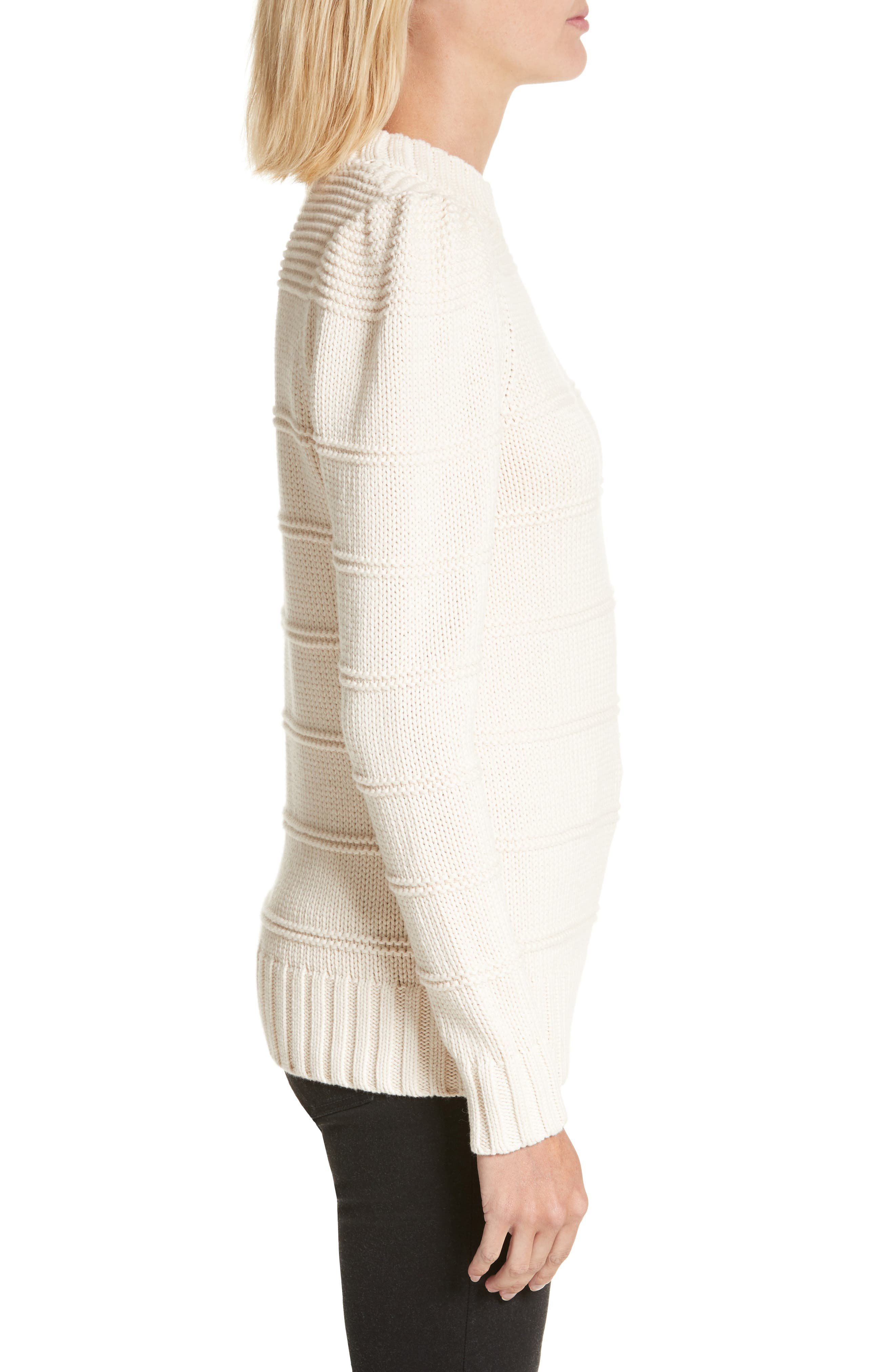Stripe Cotton & Merino Wool Sweater,                             Alternate thumbnail 6, color,