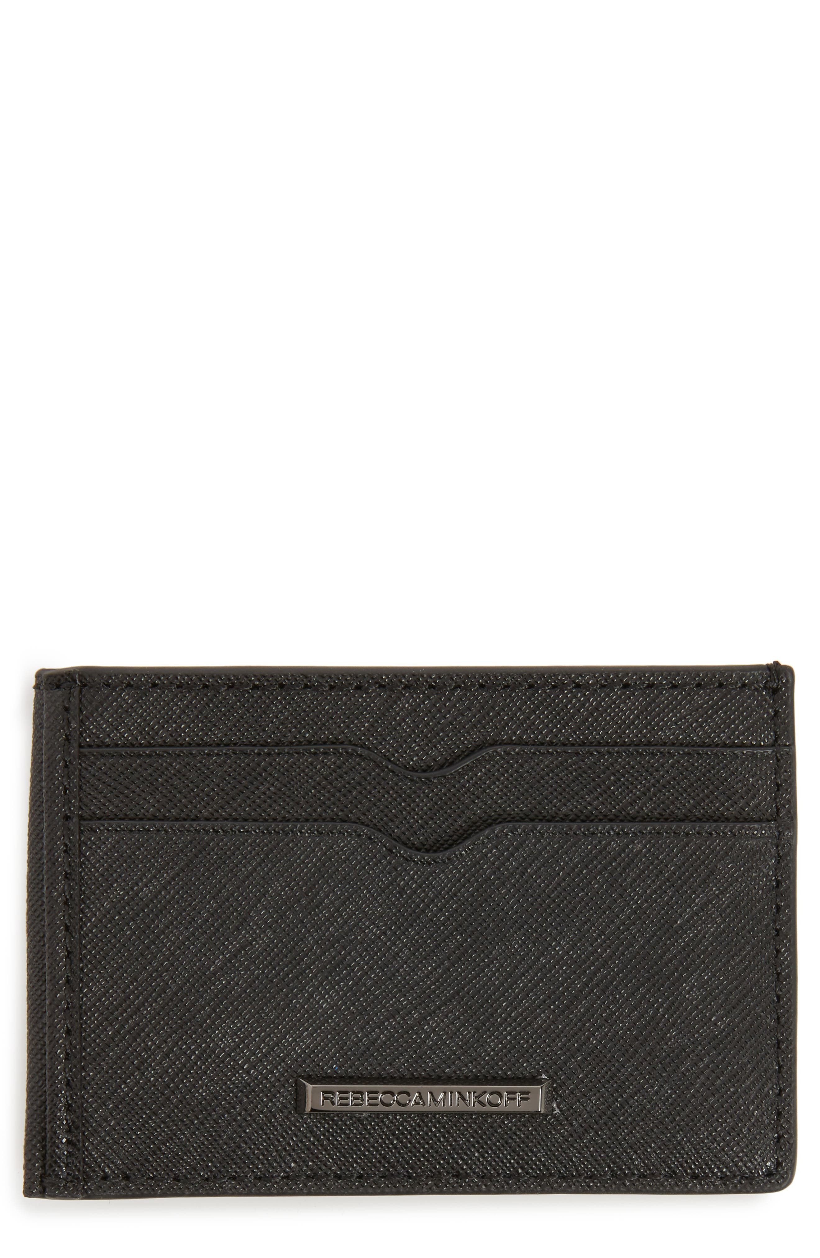 Metro Leather Card Case,                         Main,                         color, 001