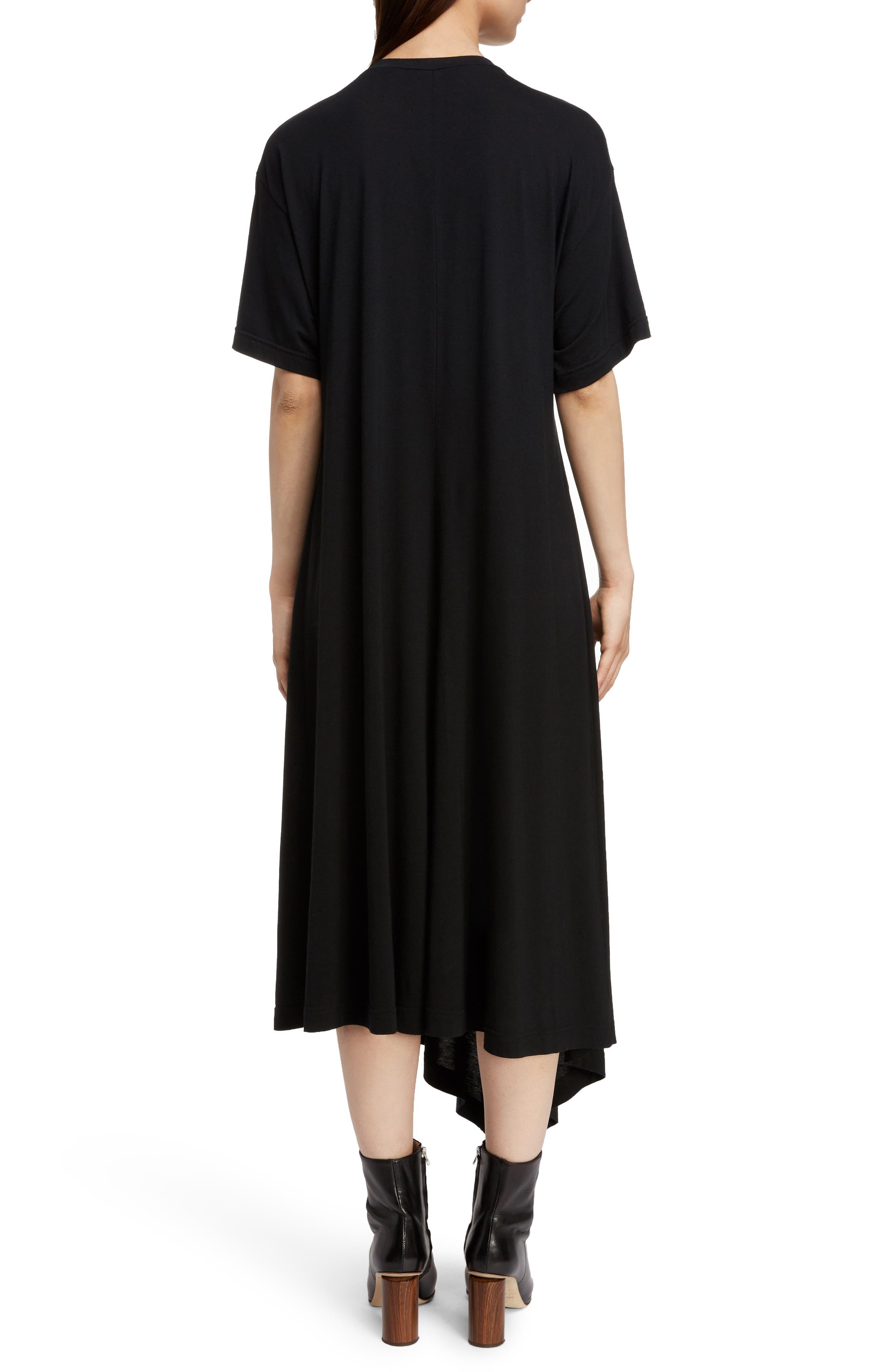 T-Shirt Dress,                             Alternate thumbnail 2, color,                             BLACK
