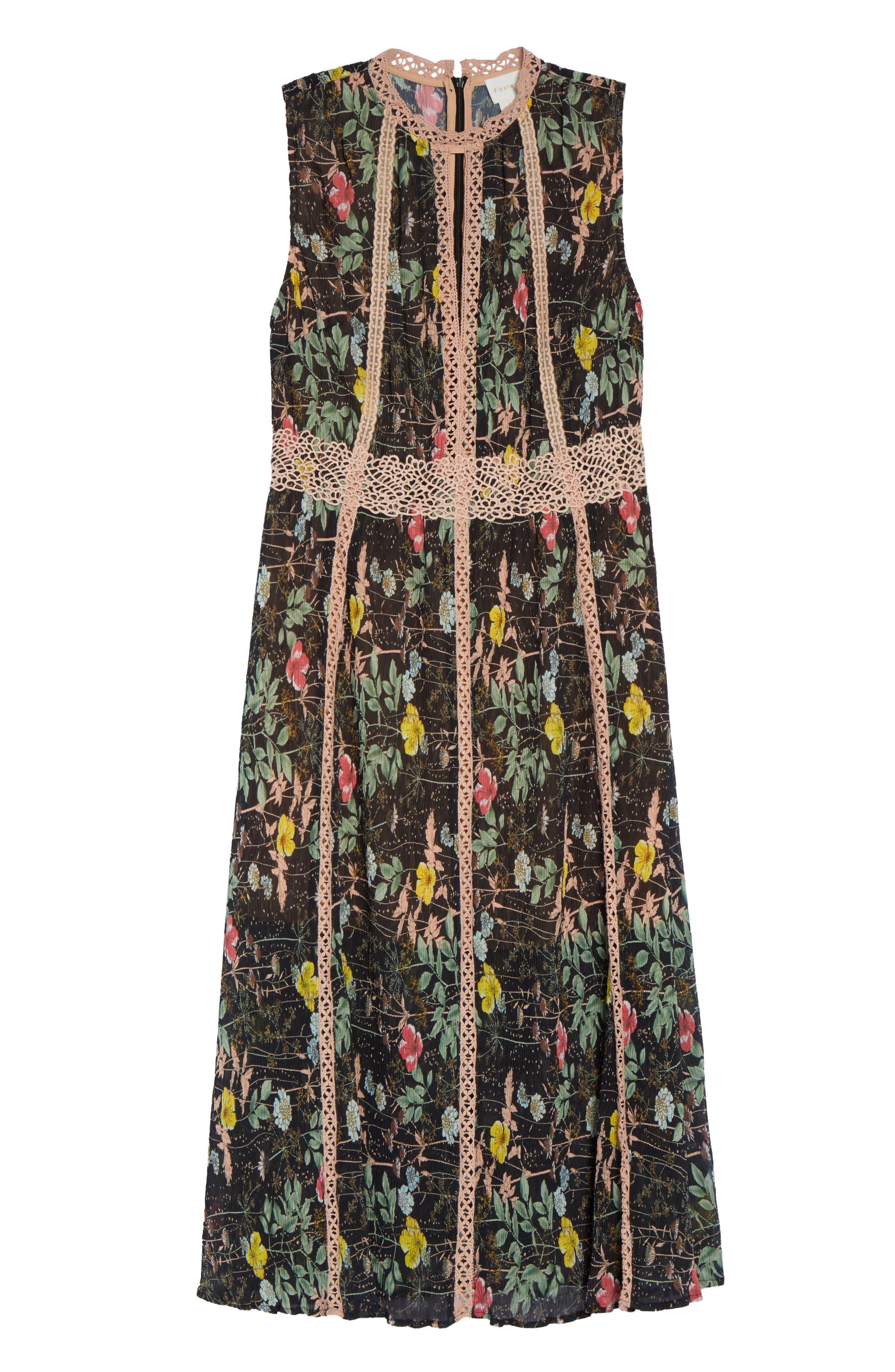 FOXIEDOX,                             Kinsey Print Gauze Midi Dress,                             Alternate thumbnail 6, color,                             009