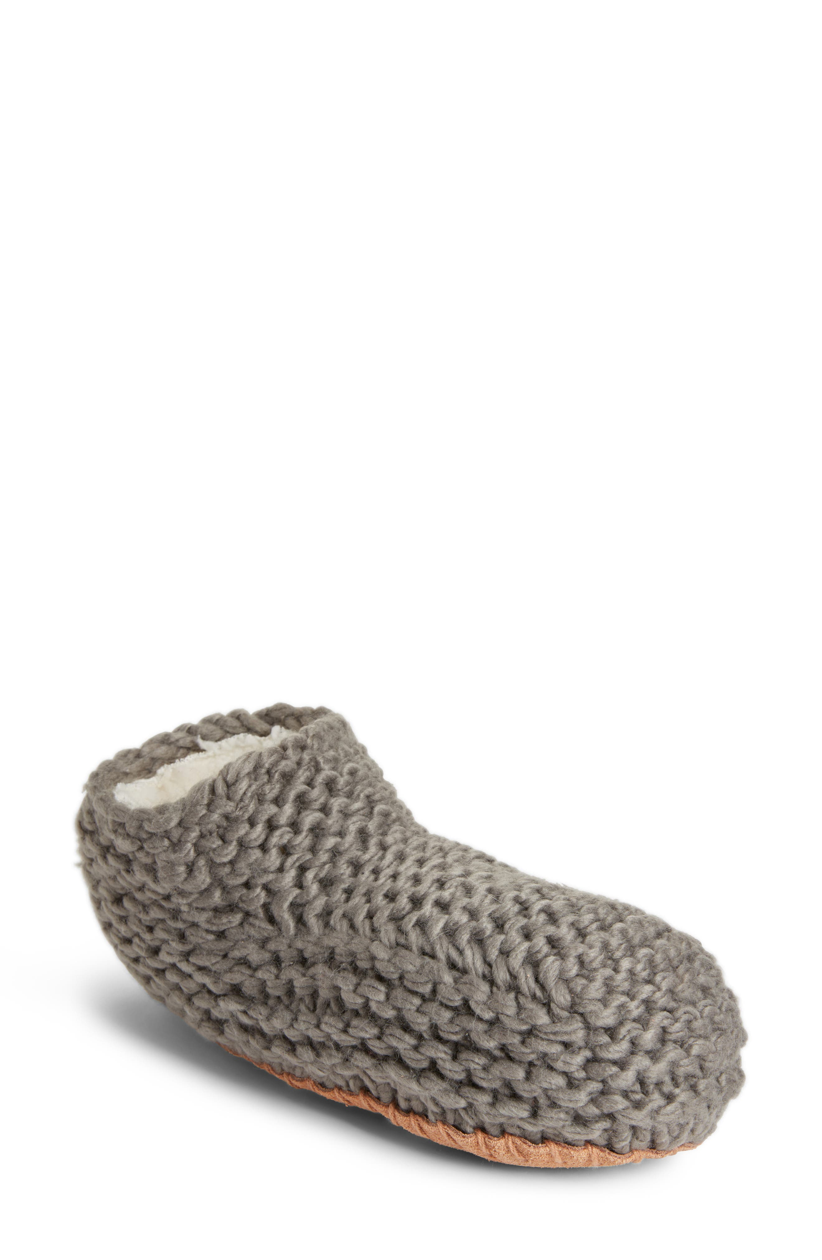Knit Slipper Bootie,                         Main,                         color, 020