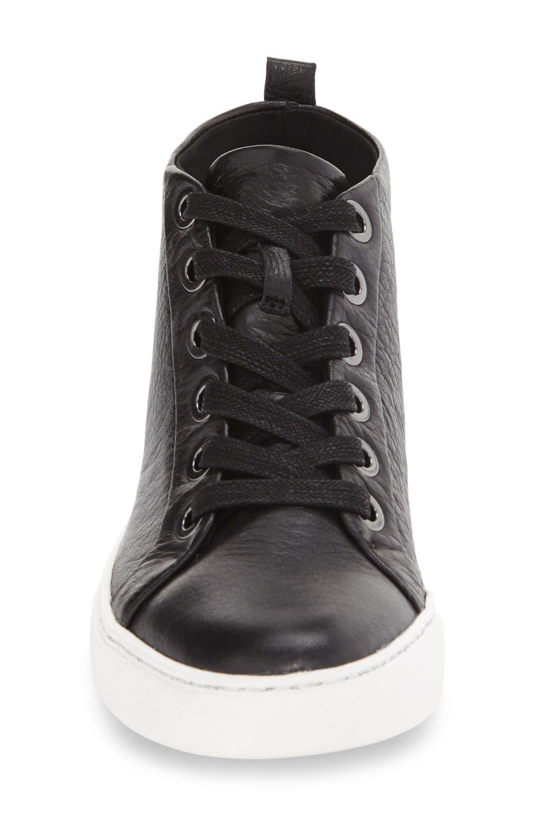 'Kaleb' High Top Sneaker,                             Alternate thumbnail 4, color,                             001