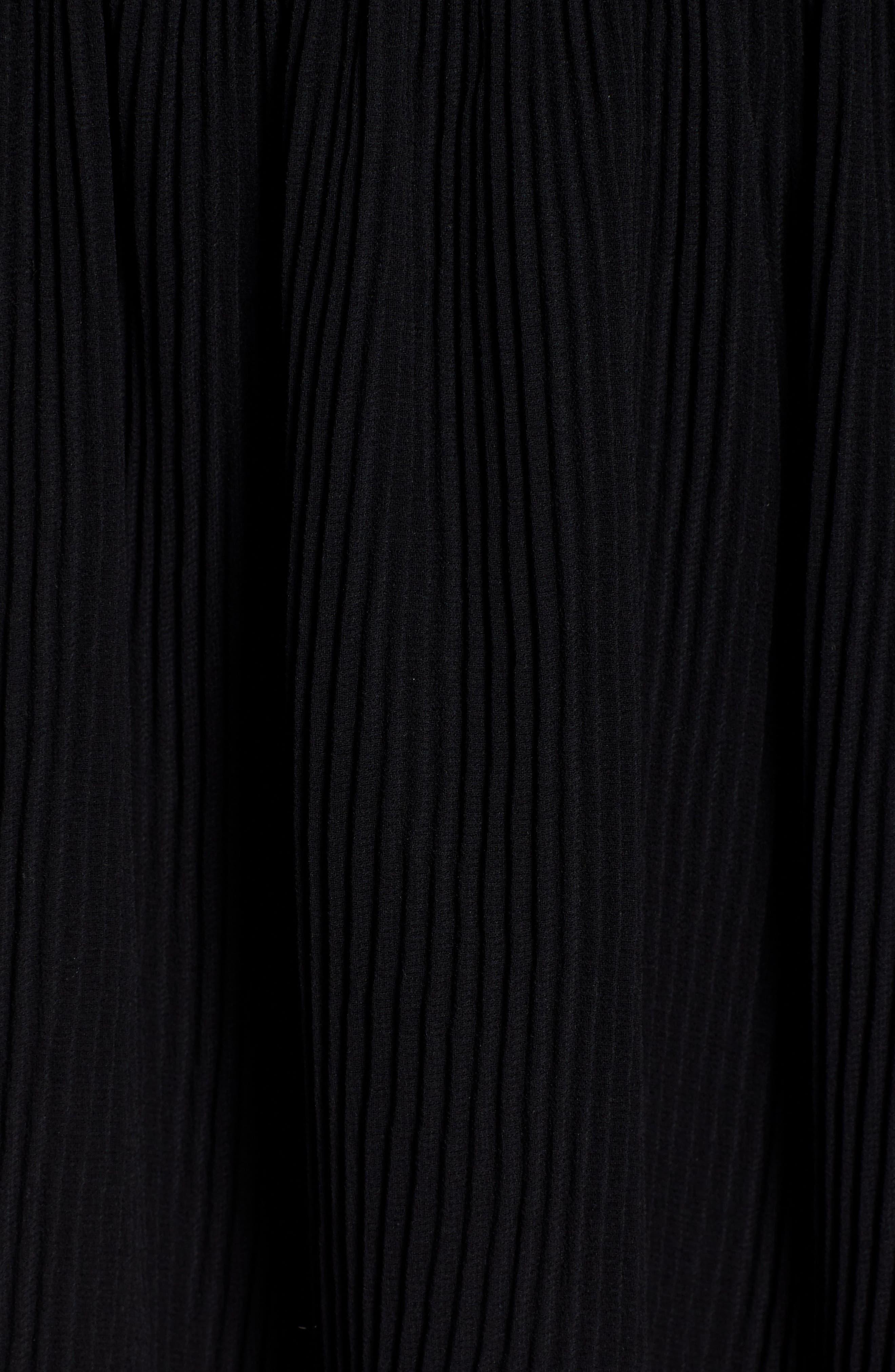 Pleated Flounce Miniskirt,                             Alternate thumbnail 6, color,                             001