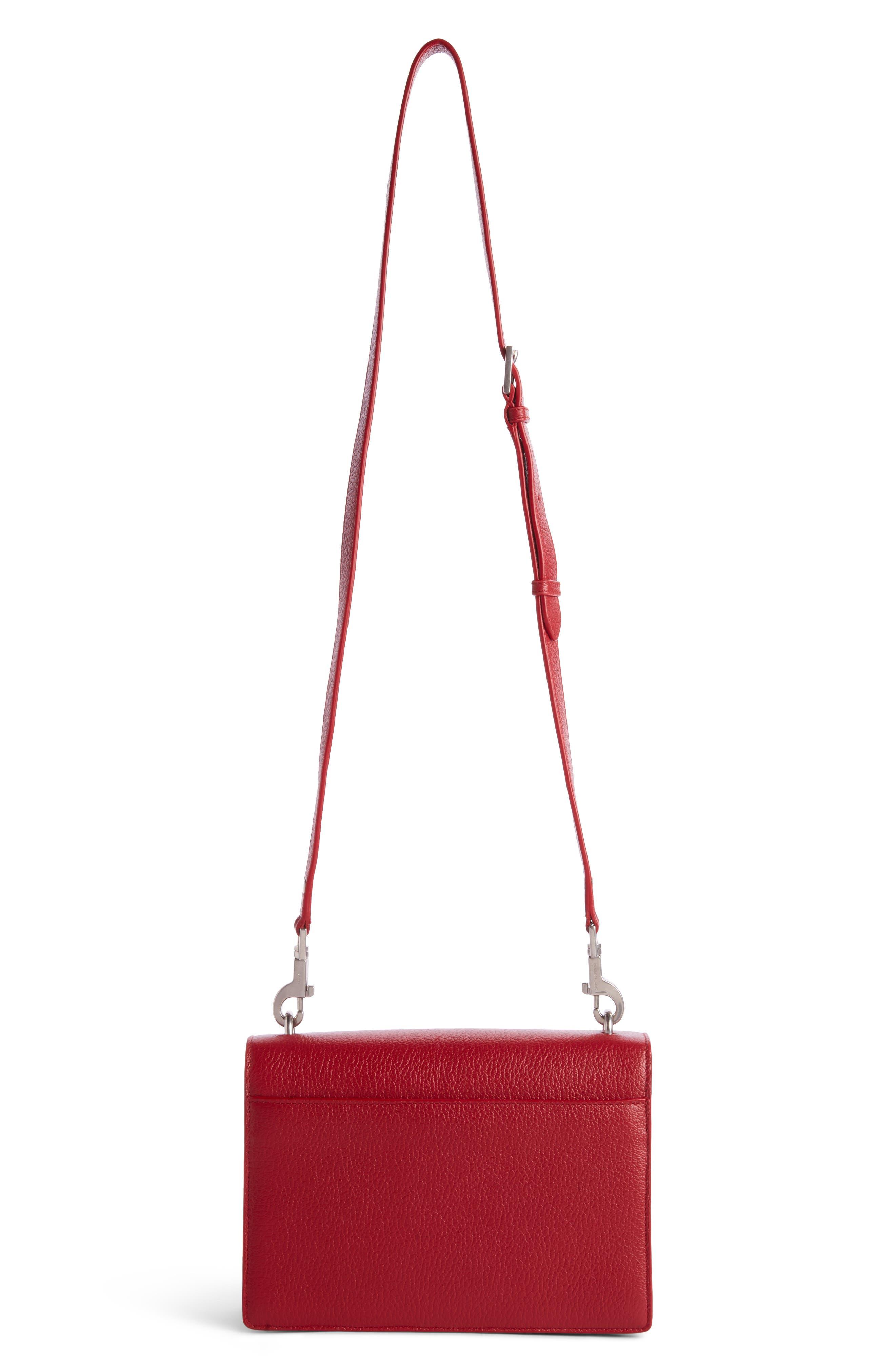 Medium Sunset Grained Leather Shoulder Bag,                             Alternate thumbnail 2, color,                             600