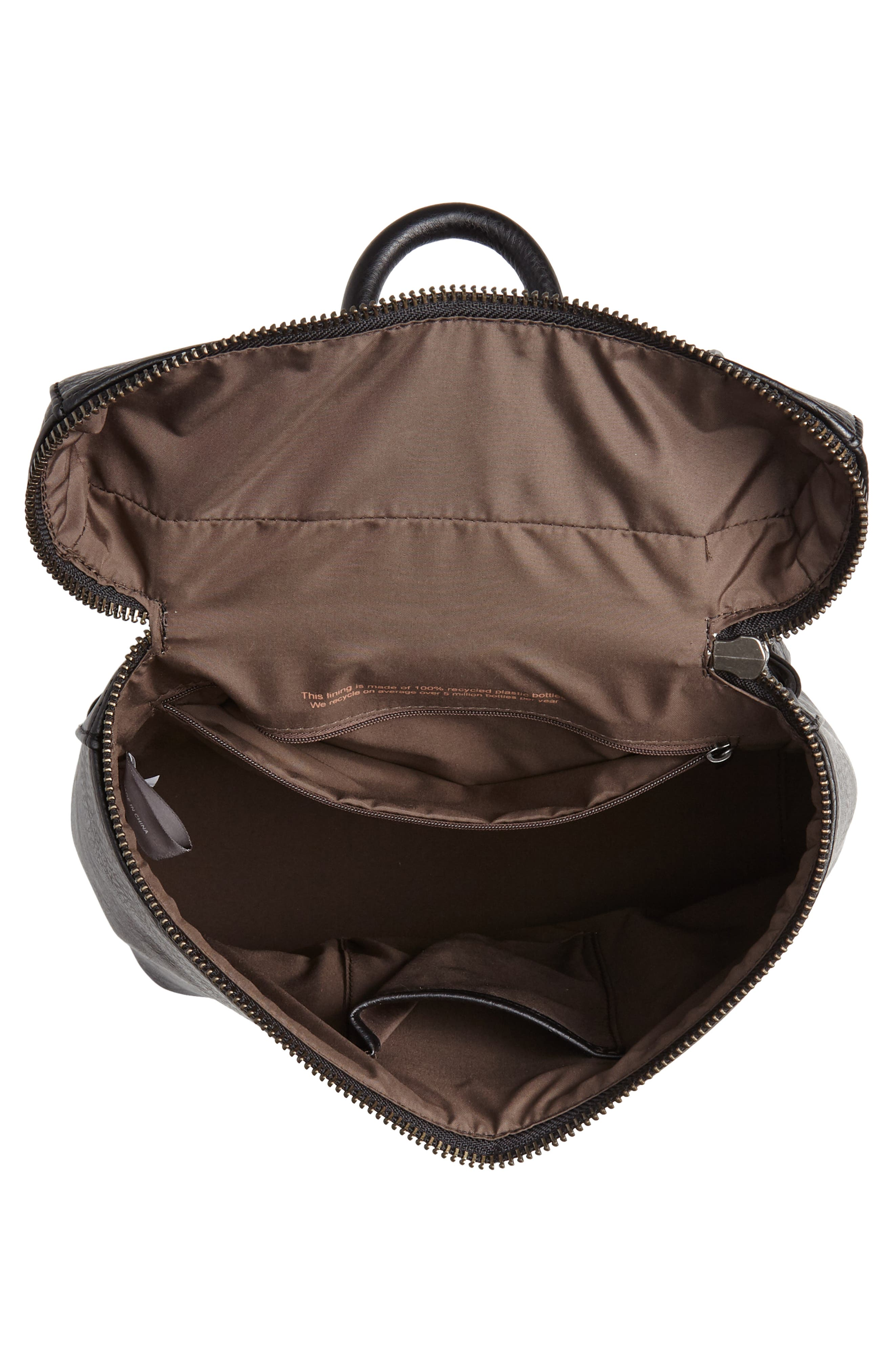 Rahi Faux Leather Backpack,                             Alternate thumbnail 4, color,                             001
