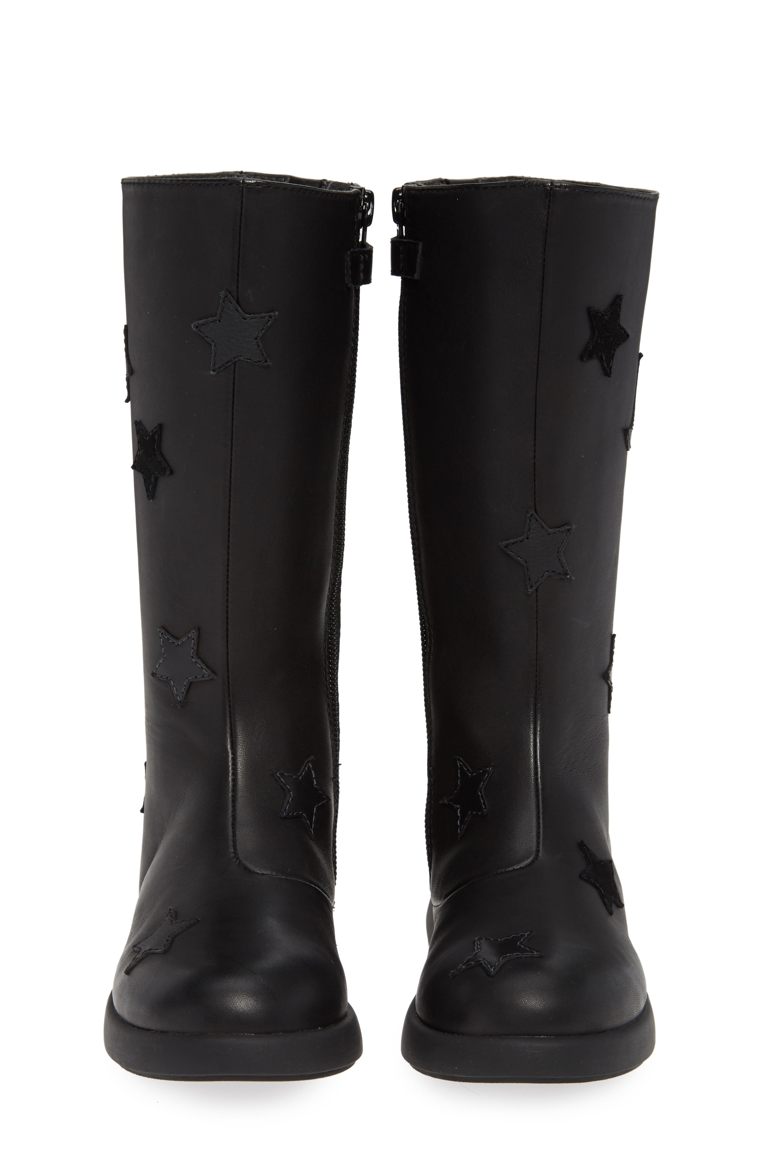Star Appliqué Tall Boot,                             Alternate thumbnail 5, color,                             BLACK