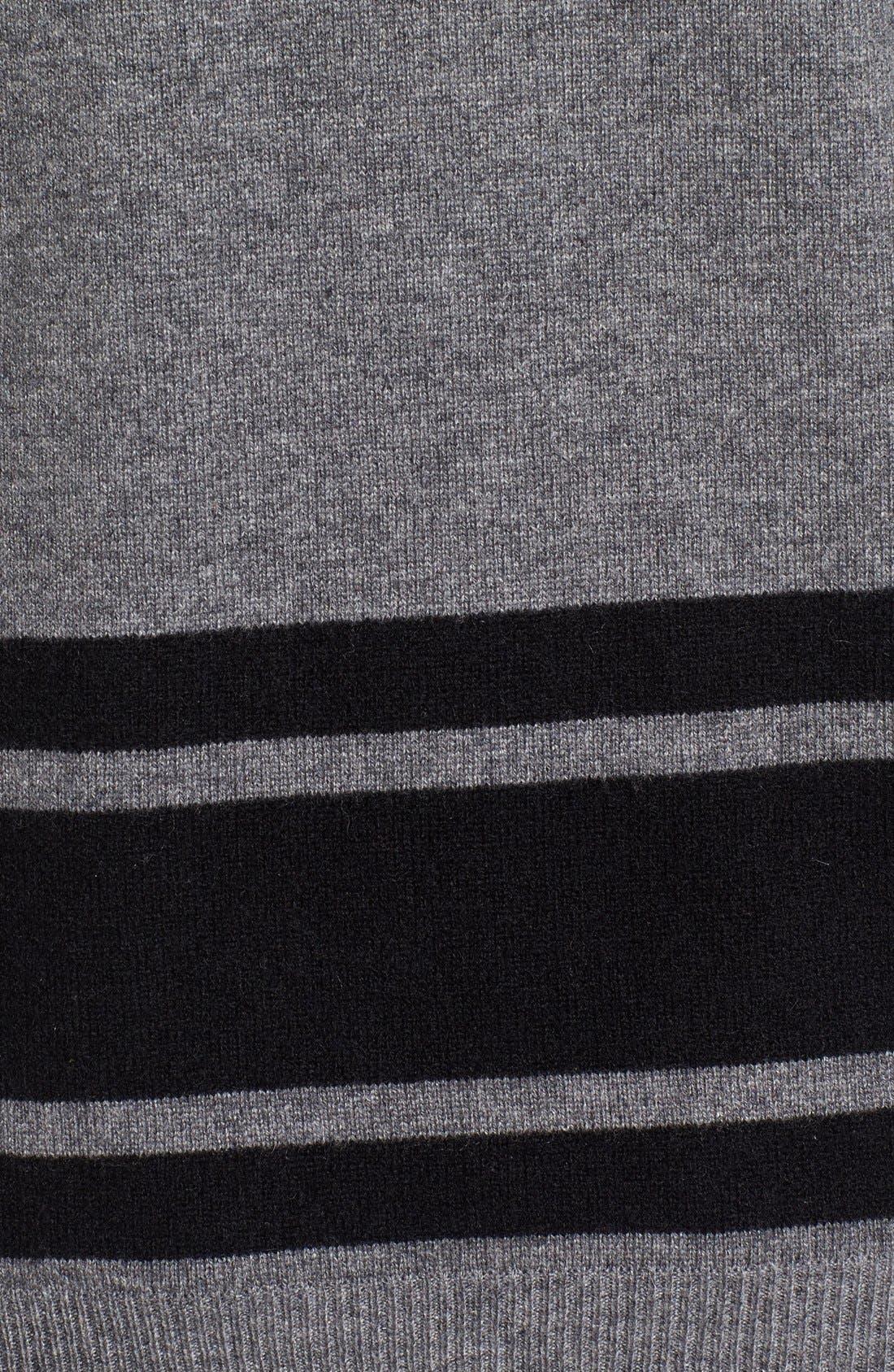 Stripe Wool Blend Sweater,                             Alternate thumbnail 5, color,                             020