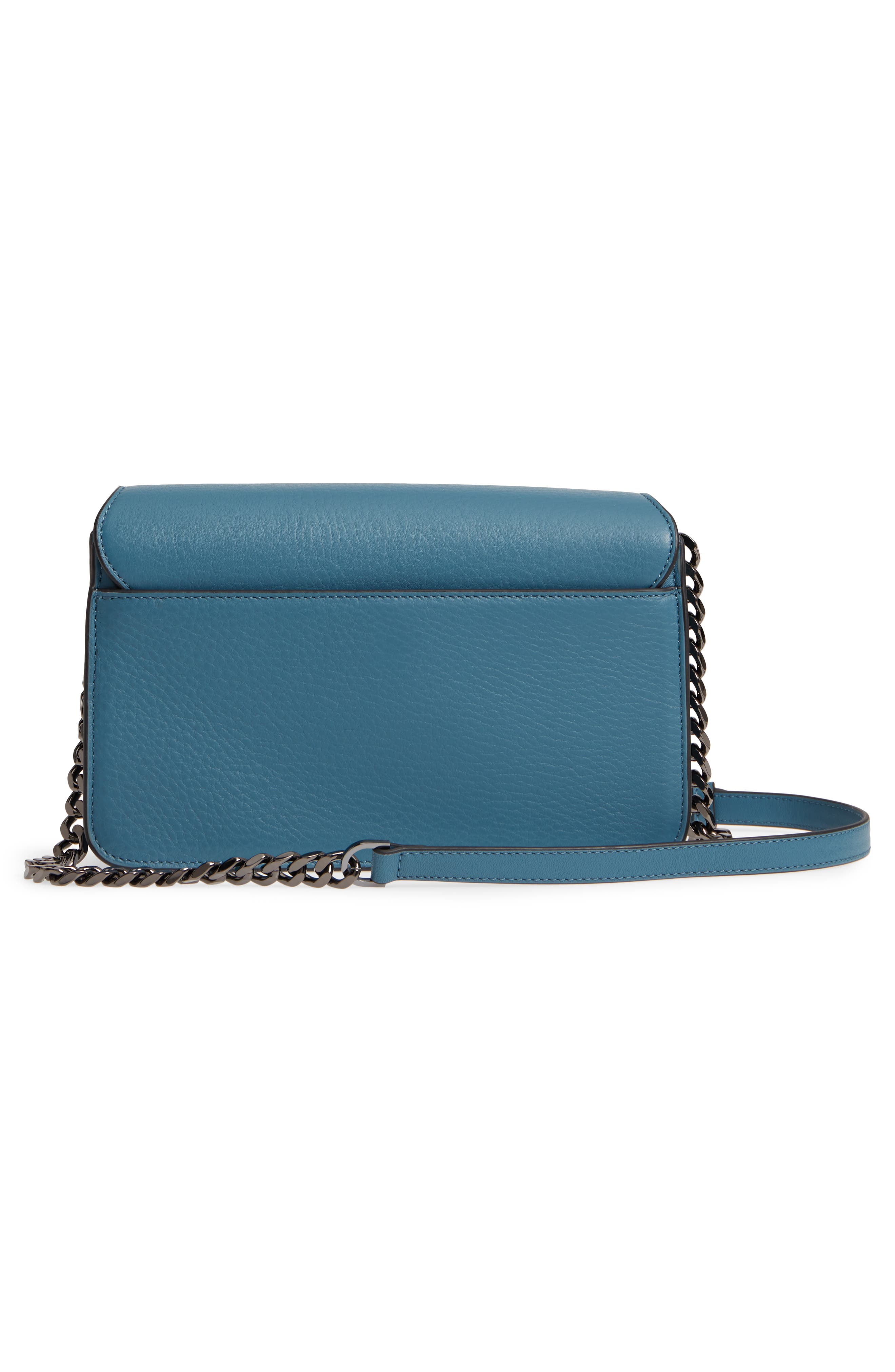 Cortney Nappa Leather Shoulder/Crossbody Bag,                             Alternate thumbnail 11, color,