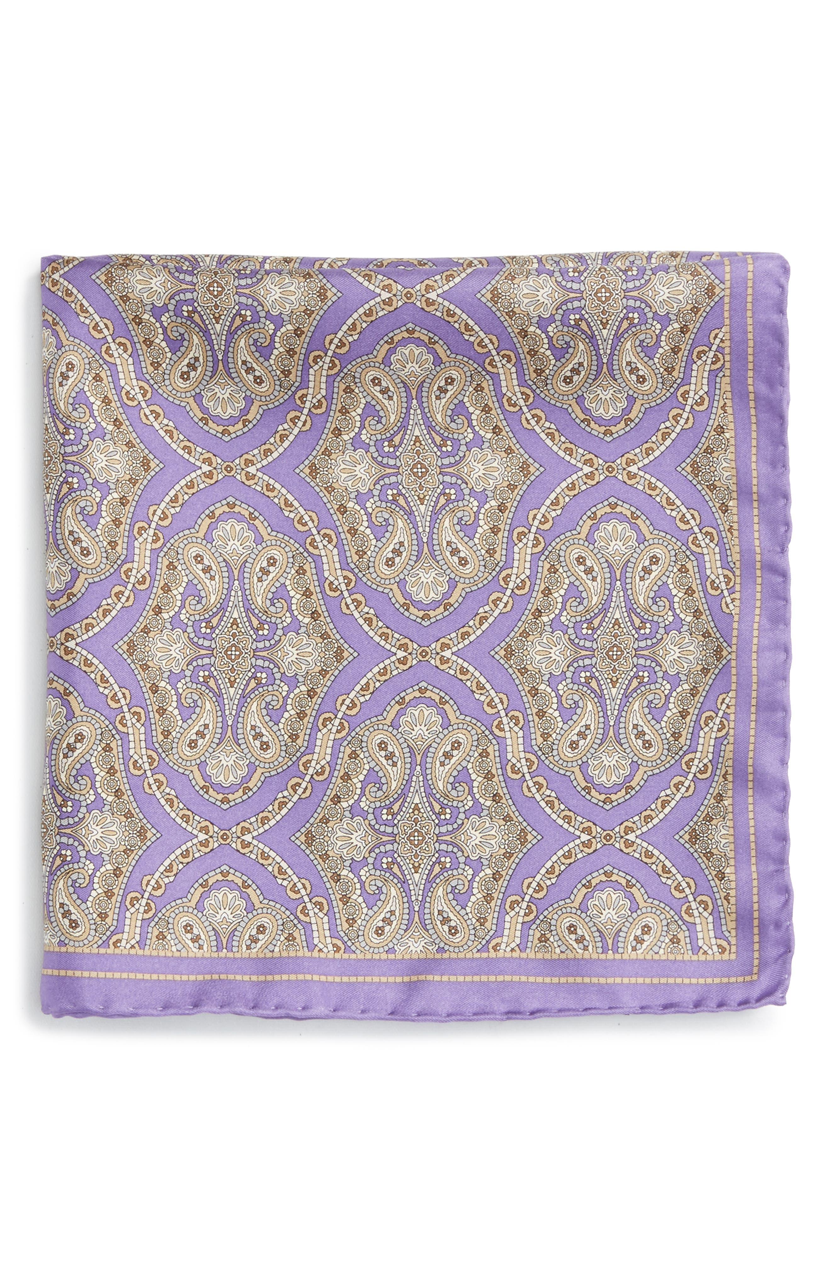 Medallion Silk Pocket Square,                             Alternate thumbnail 11, color,