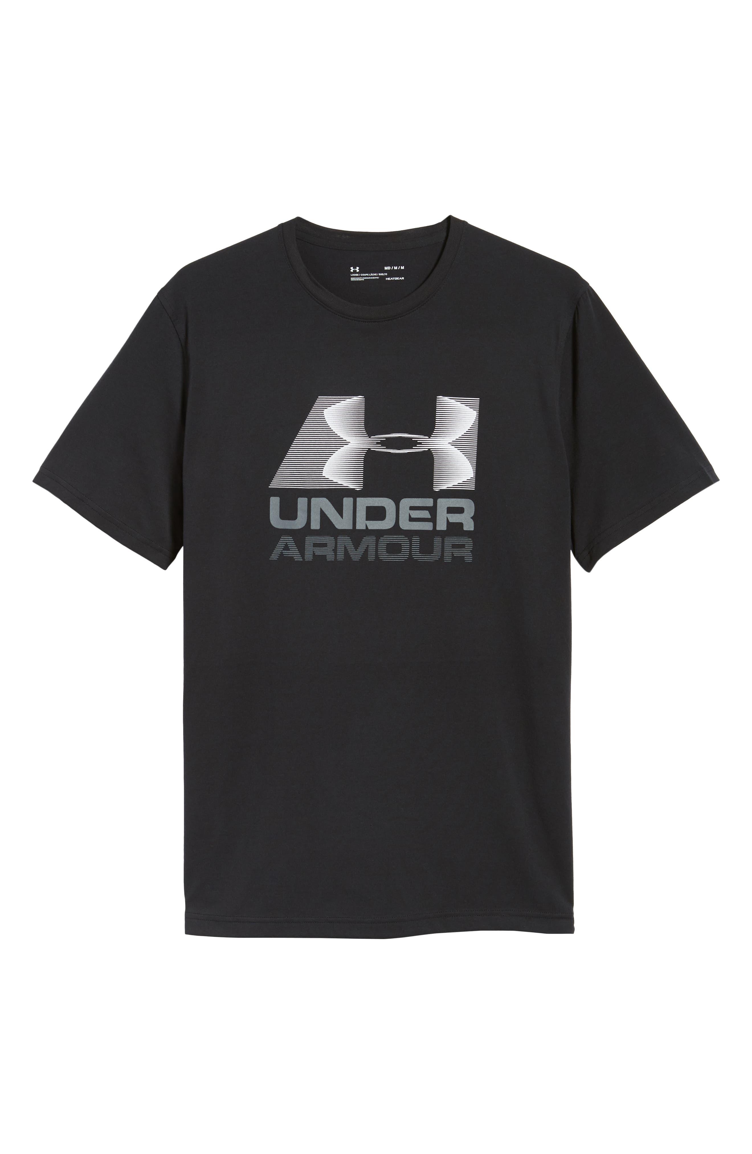Trim Fit Vanish Logo T-Shirt,                             Alternate thumbnail 6, color,                             BLACK/ WHITE/ GRAPHITE