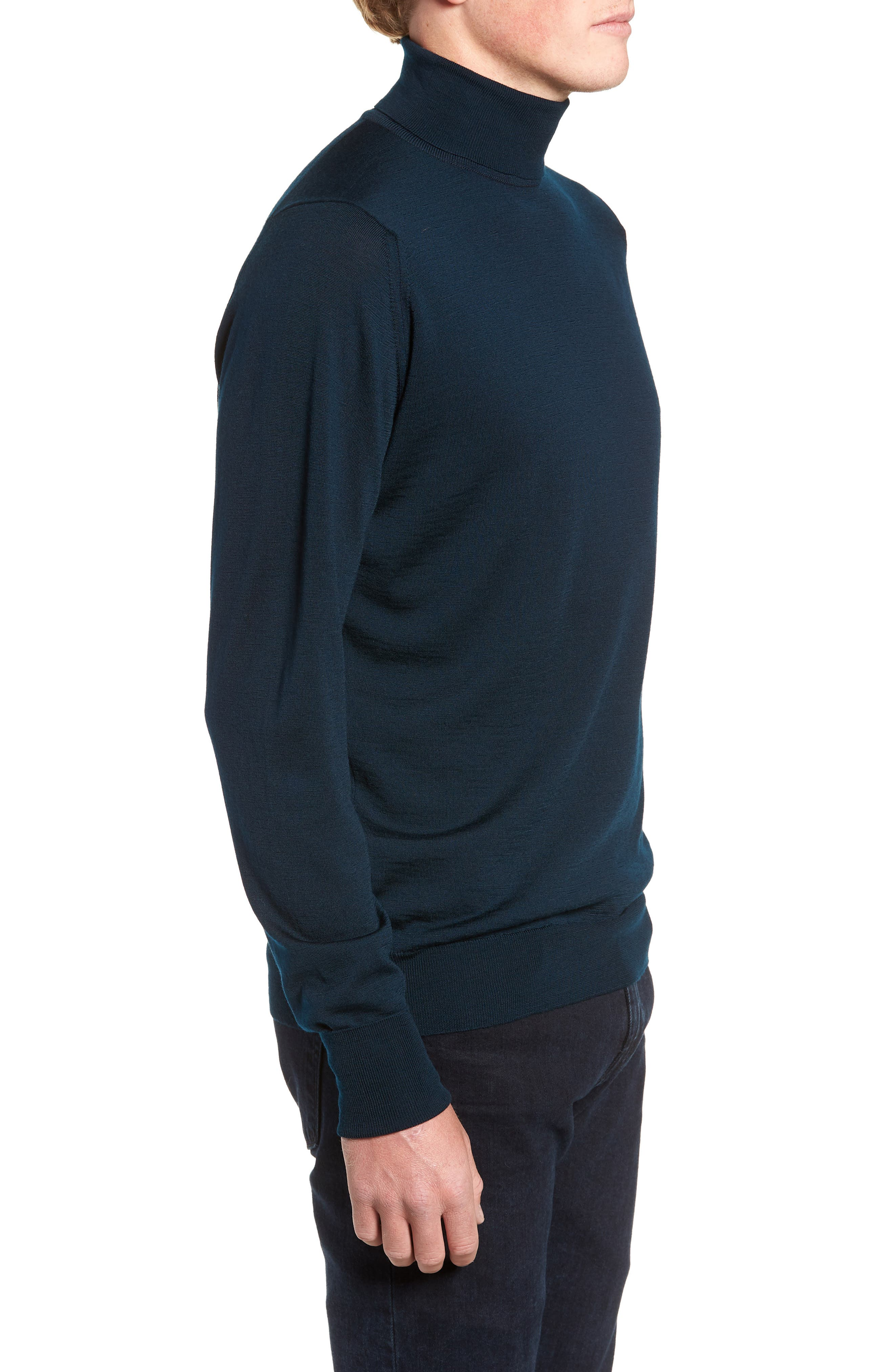 'Richards' Easy Fit Turtleneck Wool Sweater,                             Alternate thumbnail 19, color,