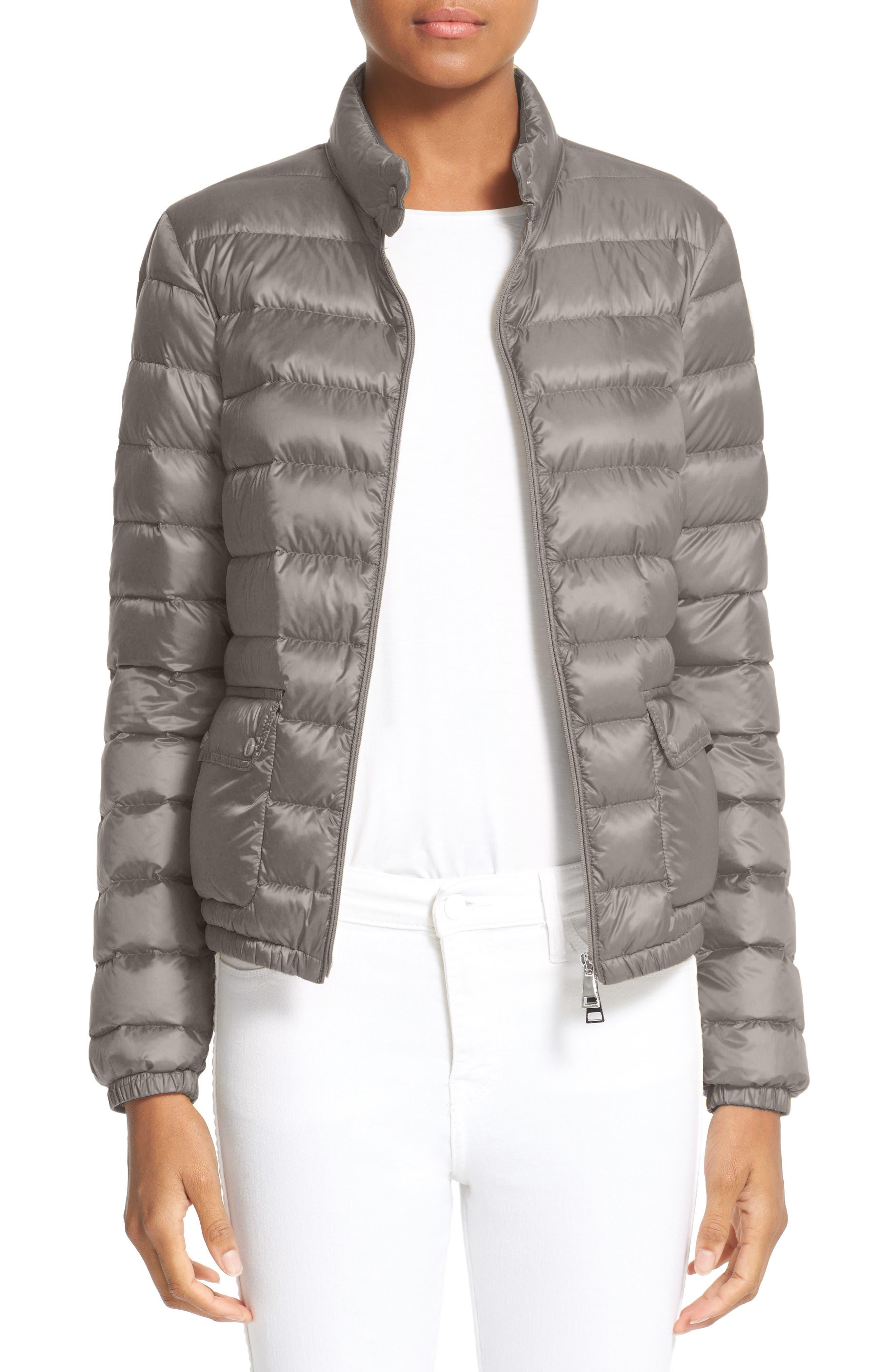 'Lans' Water Resistant Short Down Jacket,                         Main,                         color, GREY
