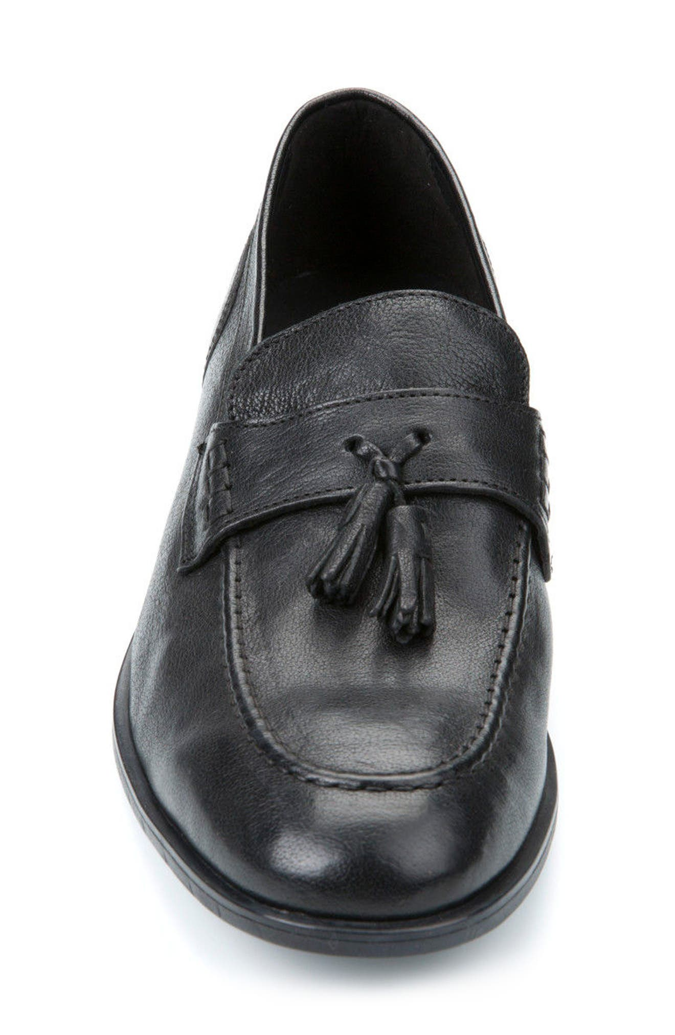 Bryceton 4 Tassel Loafer,                             Alternate thumbnail 4, color,                             BLACK LEATHER