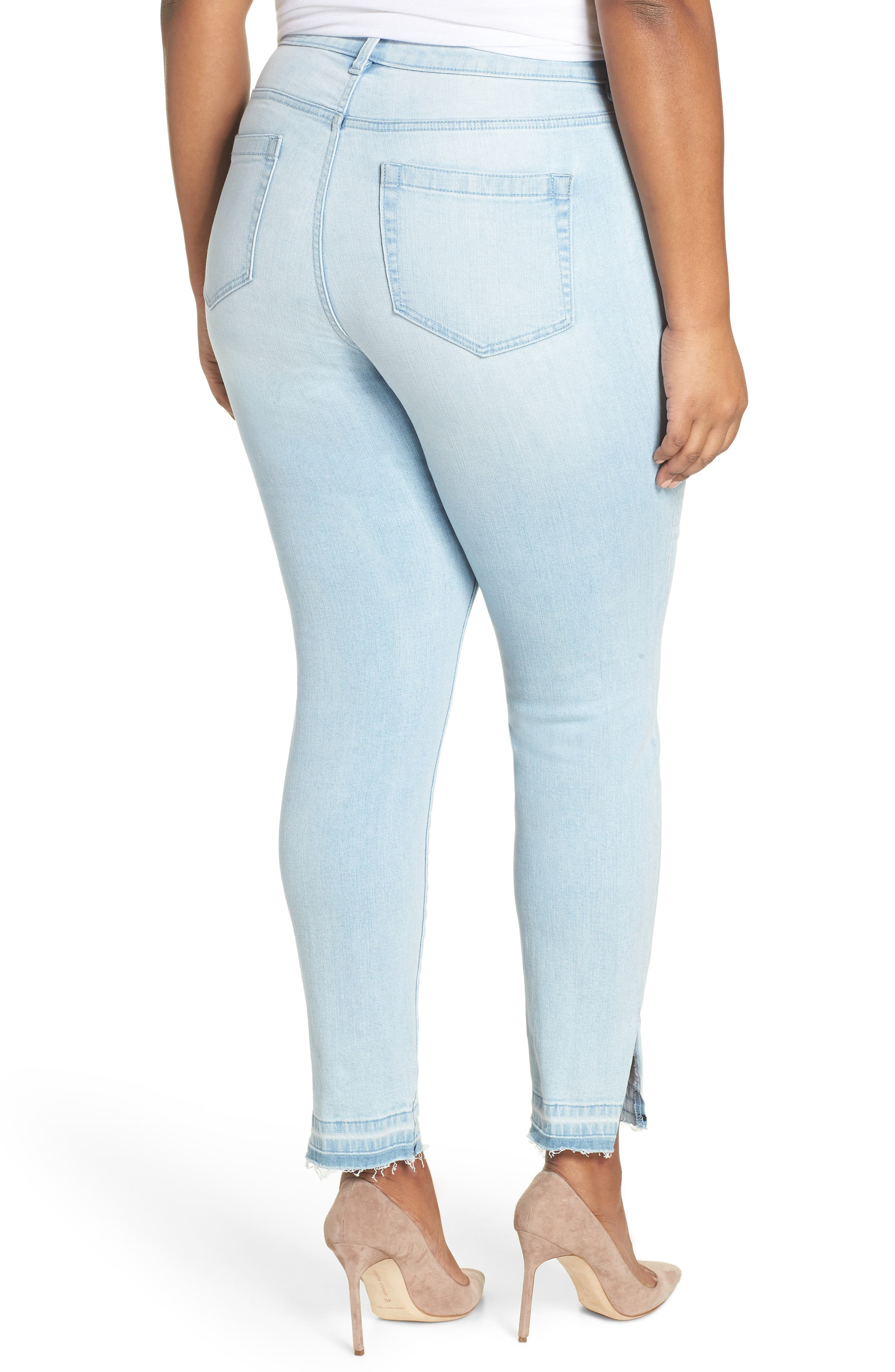 Button Fly High Waist Jeans,                             Alternate thumbnail 2, color,                             400
