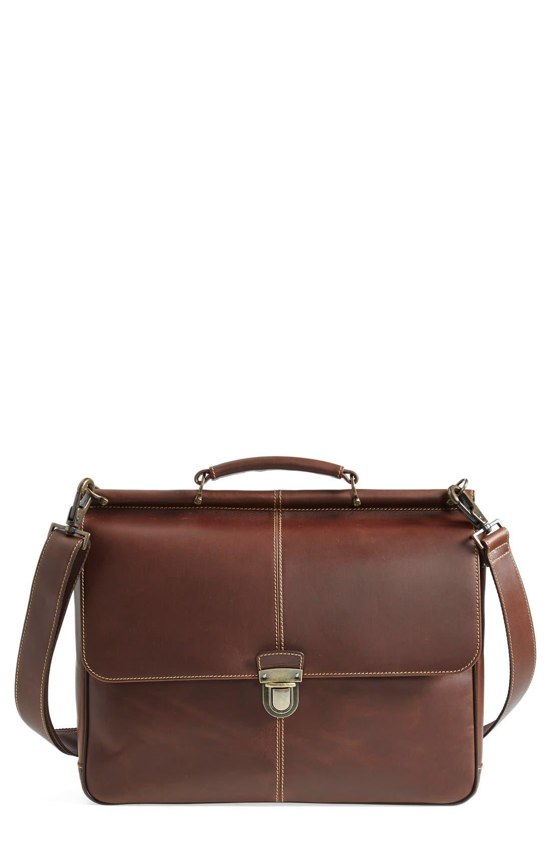 'Bryant' Briefcase,                         Main,                         color, ANTIQUE MAHOGANY
