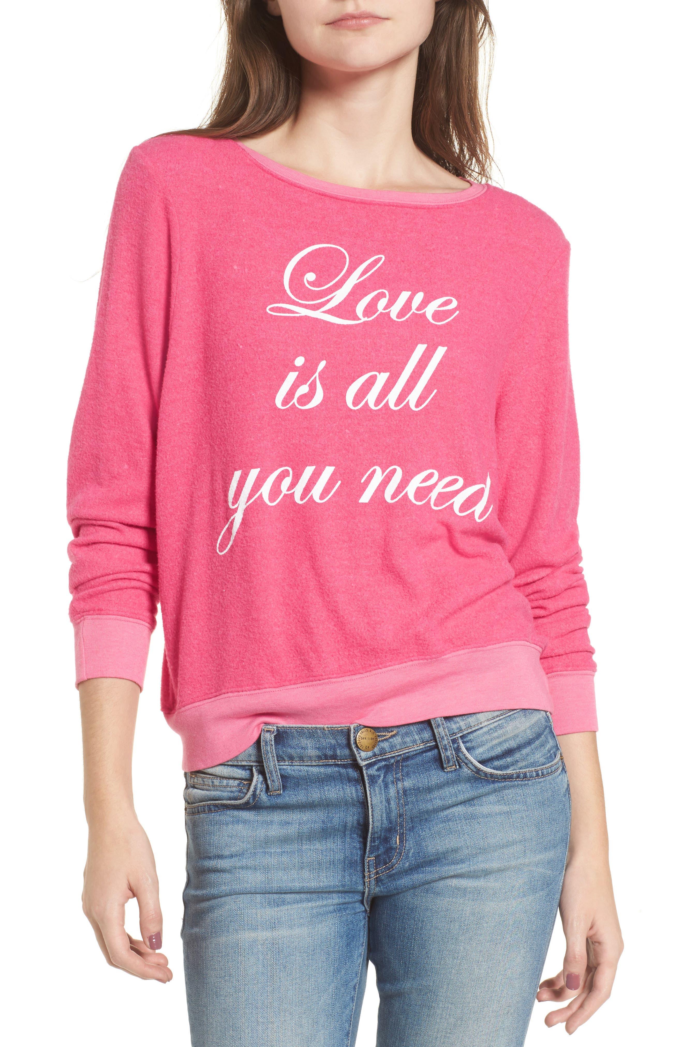 Love Is All Sweatshirt,                             Main thumbnail 1, color,
