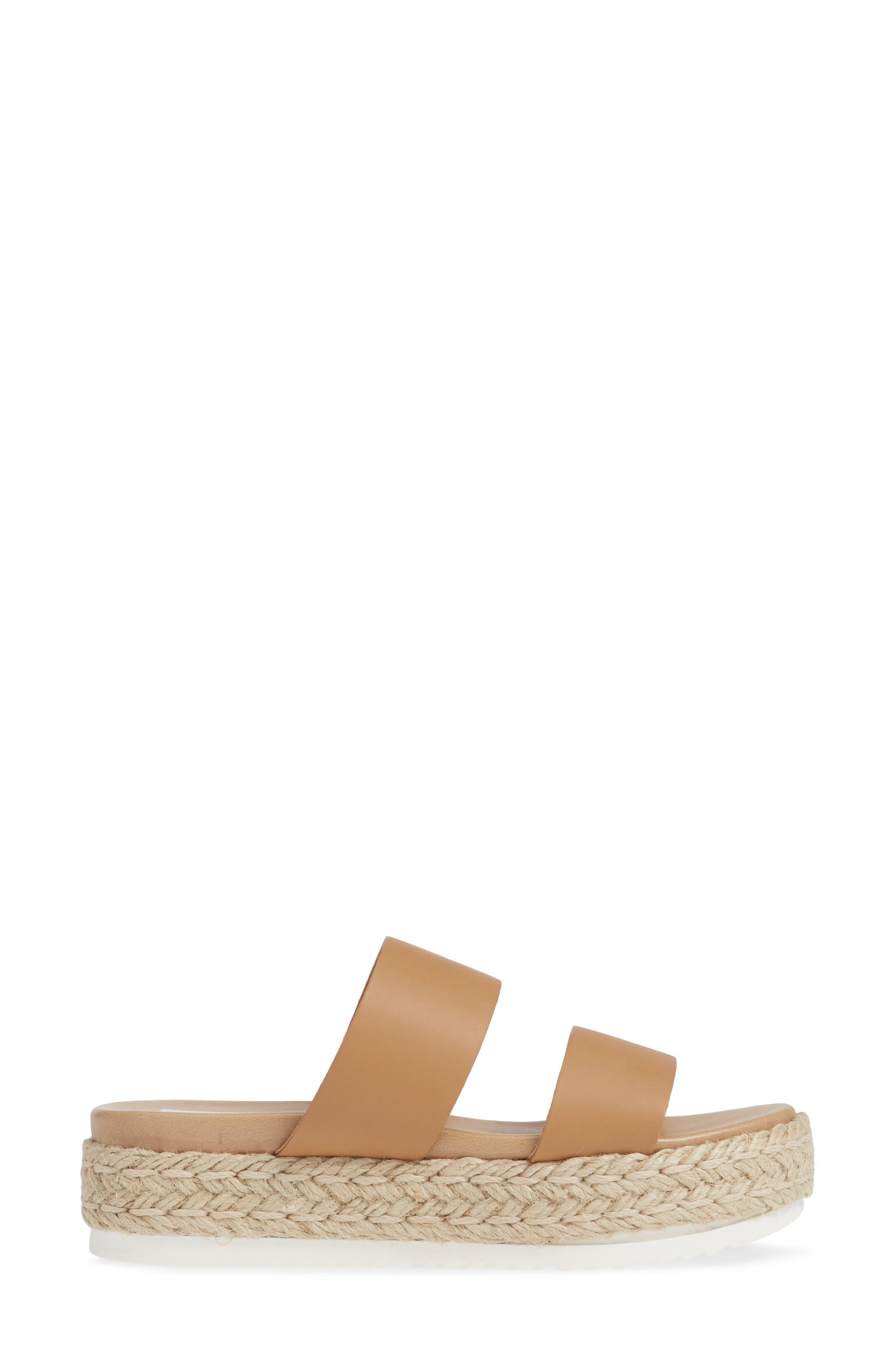 Amaze Platform Slide Sandal,                             Alternate thumbnail 3, color,                             NATURAL LEATHER
