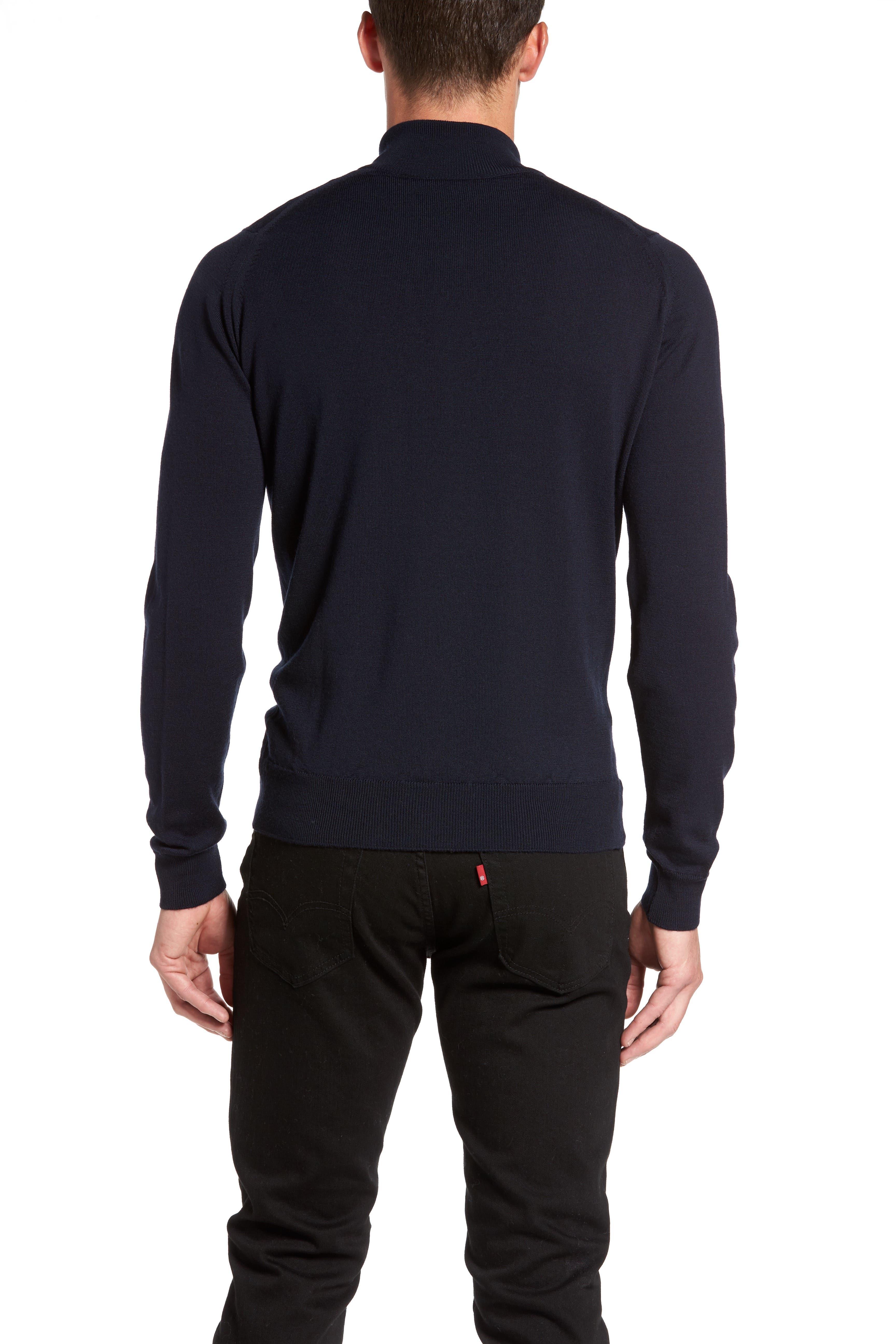 'Tapton' Quarter Zip Merino Wool Sweater,                             Alternate thumbnail 5, color,                             412