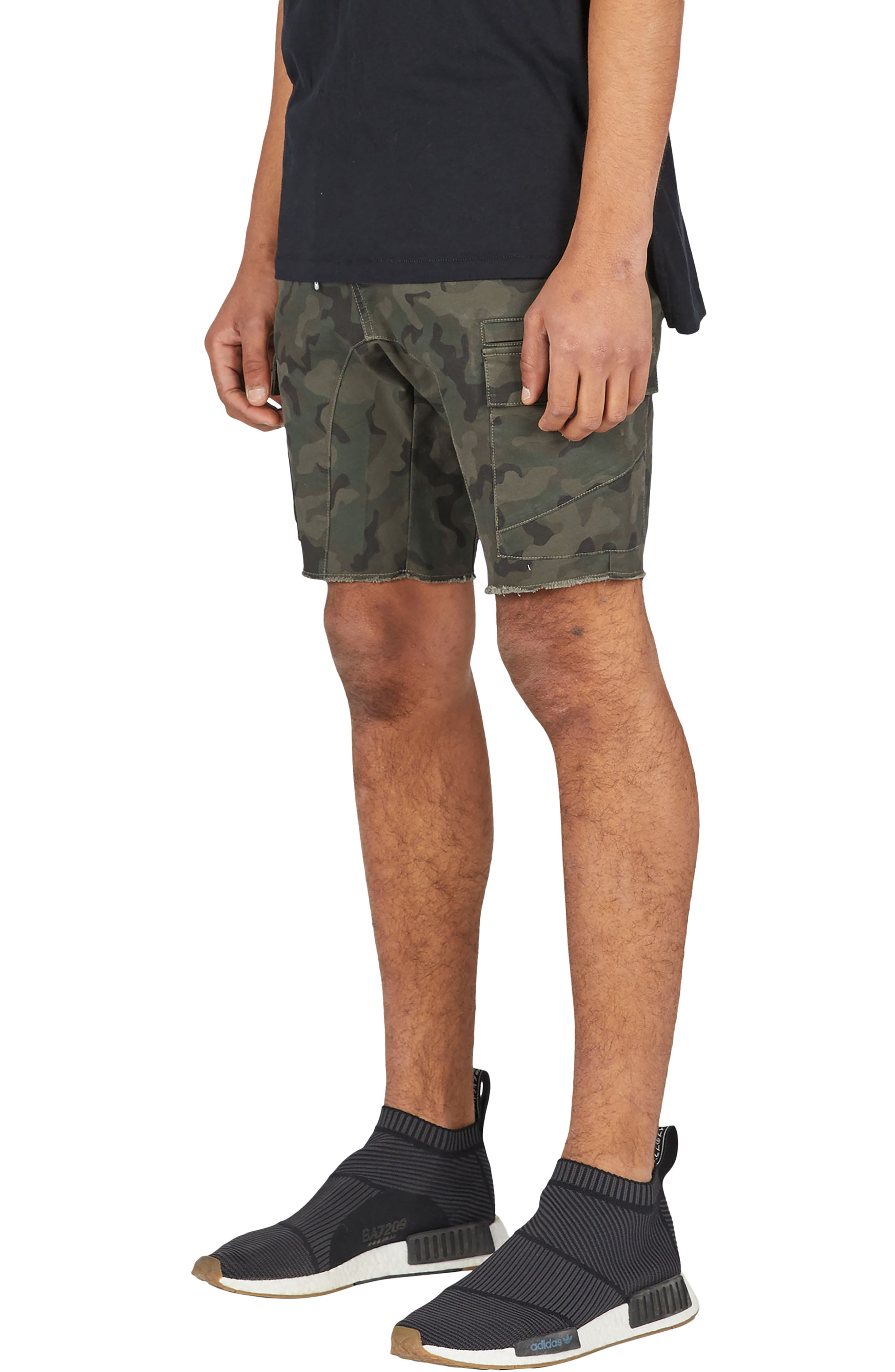 Sureshot Camo Cargo Shorts,                             Alternate thumbnail 6, color,                             302