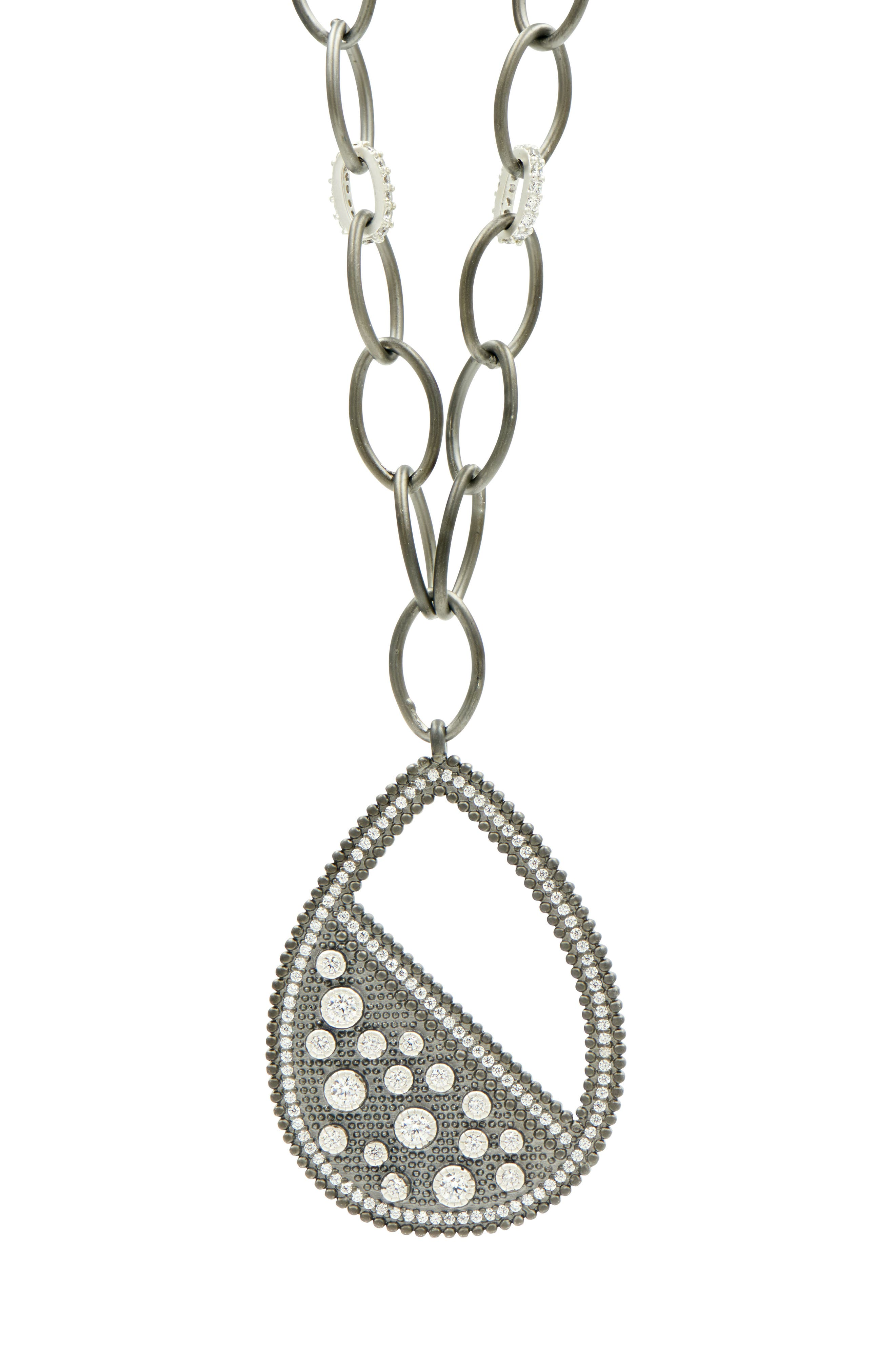 Industrial Finish Teardrop Necklace,                             Alternate thumbnail 2, color,                             040