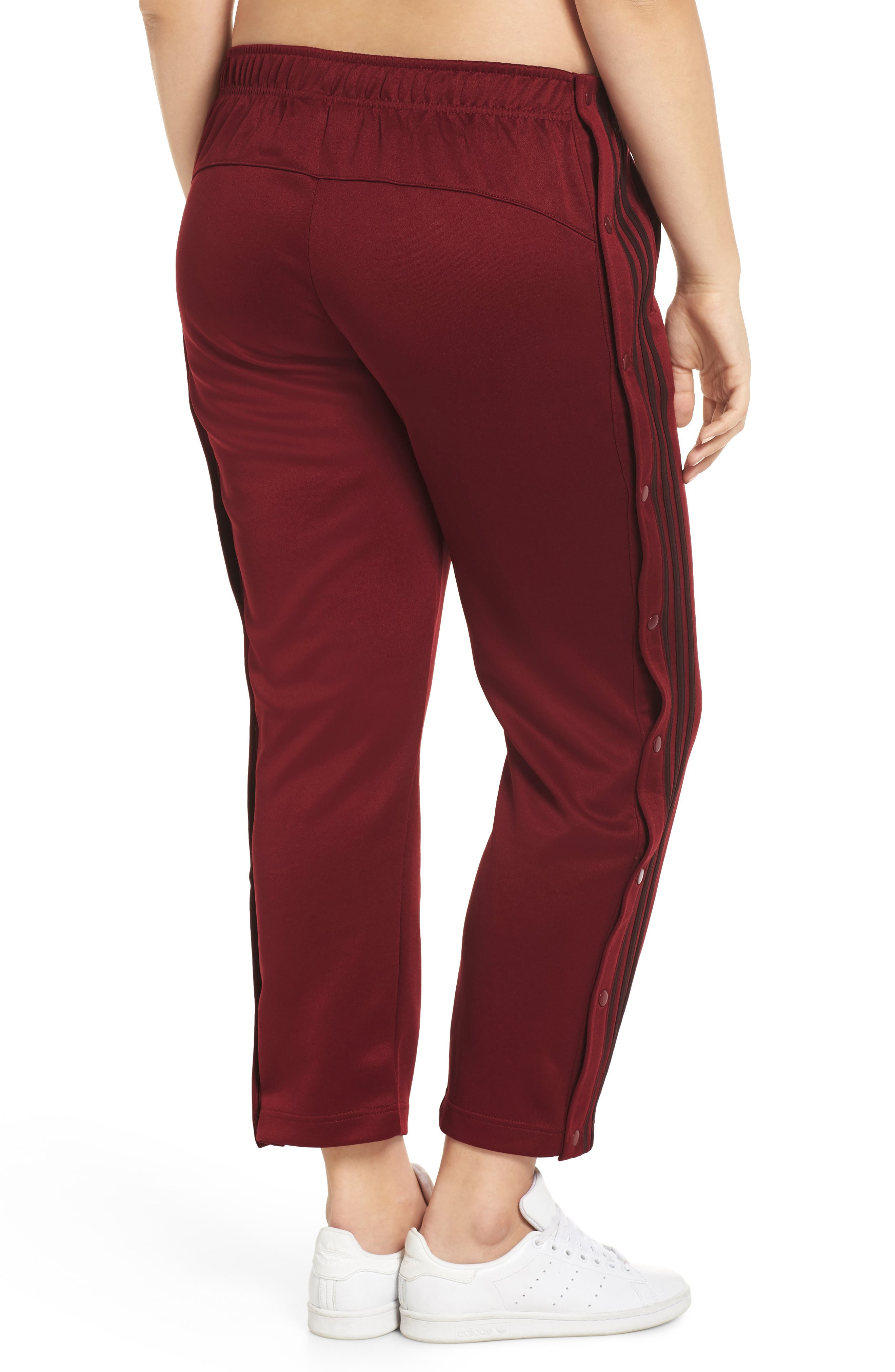 Tricot Snap Pants,                             Alternate thumbnail 8, color,                             NOBLE MAROON/ NIGHT RED