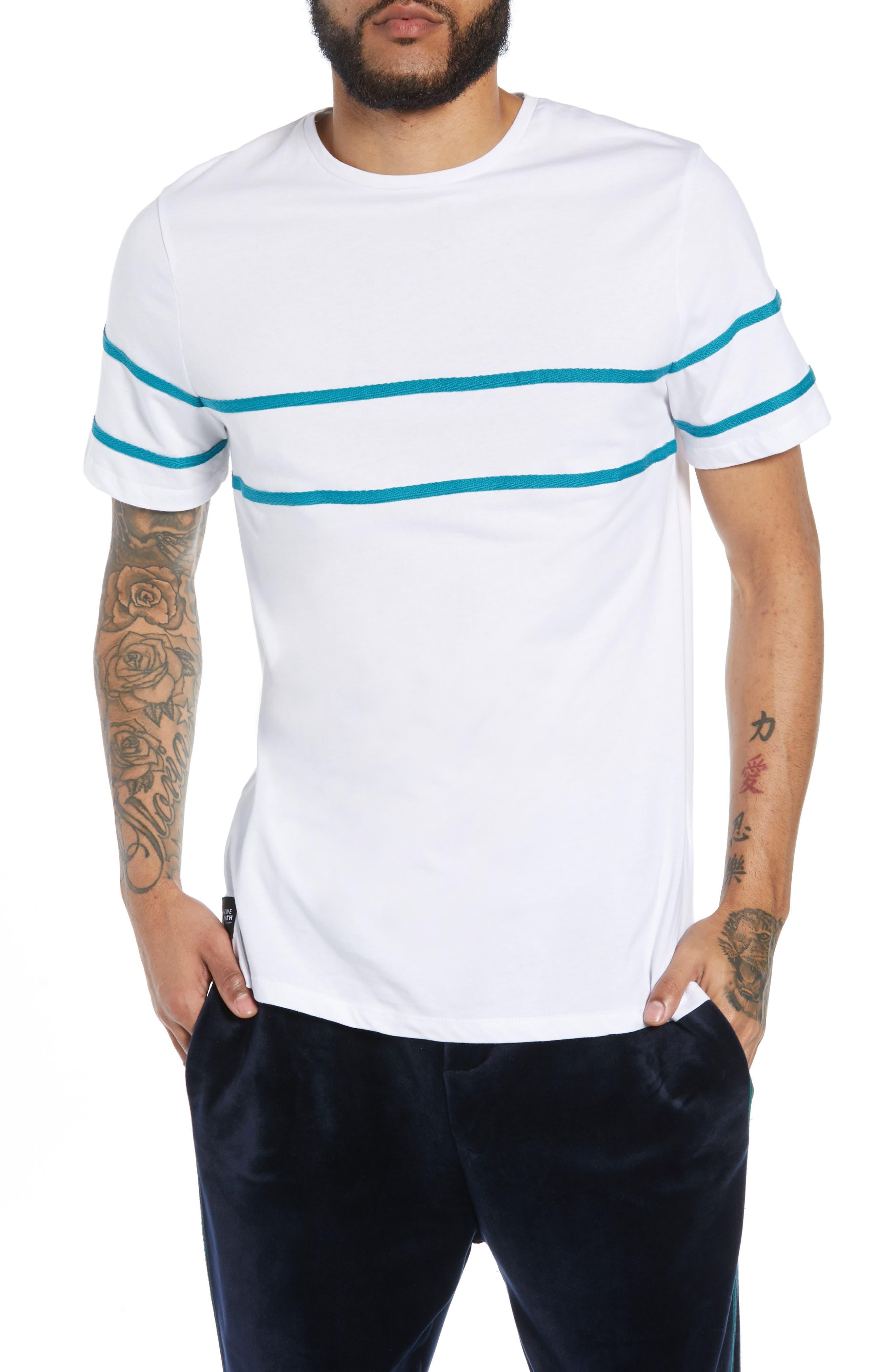 NATIVE YOUTH Herringbone Tape T-Shirt in White