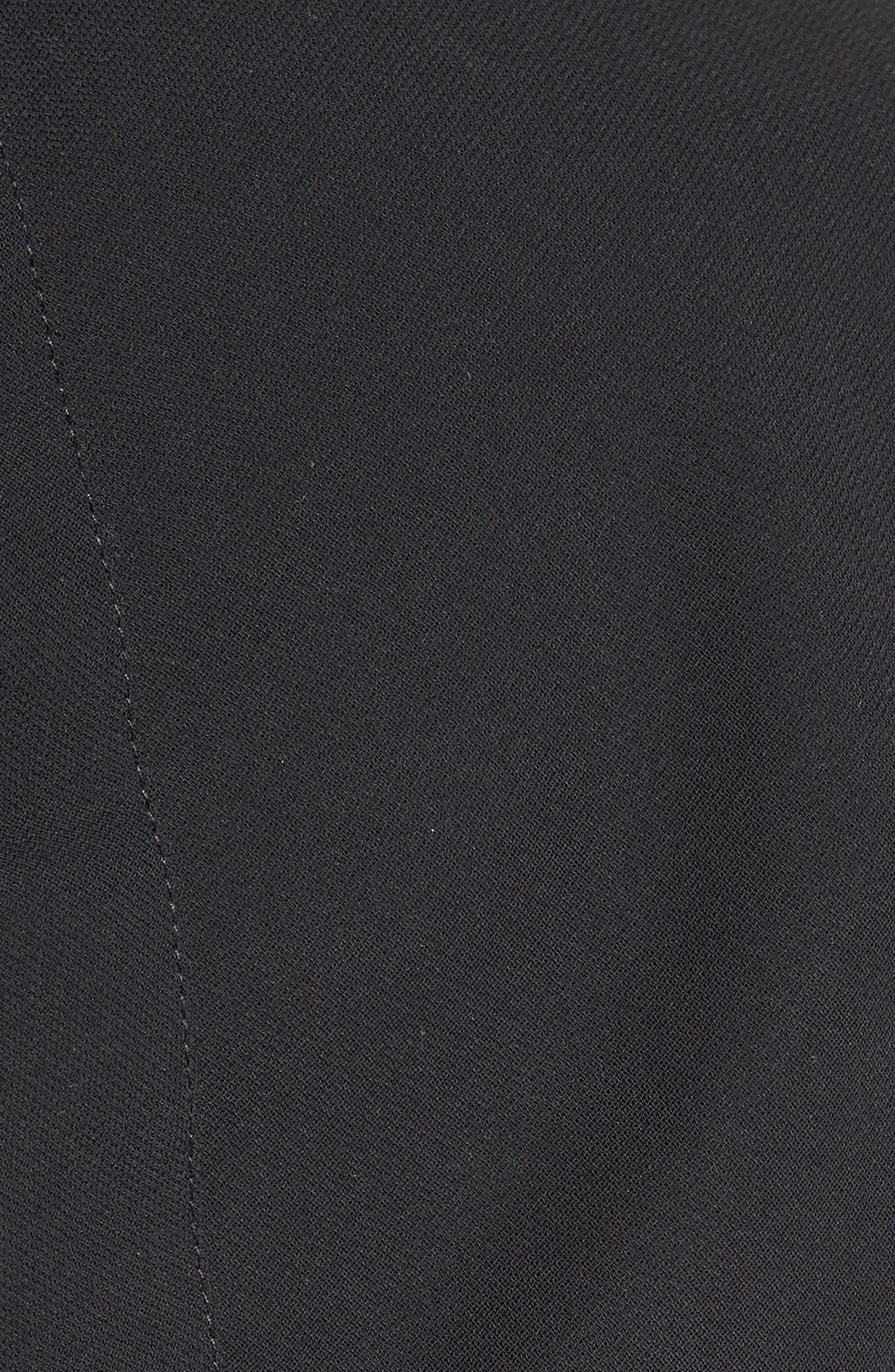 Gathered Open Back Shift Dress,                             Alternate thumbnail 5, color,                             001