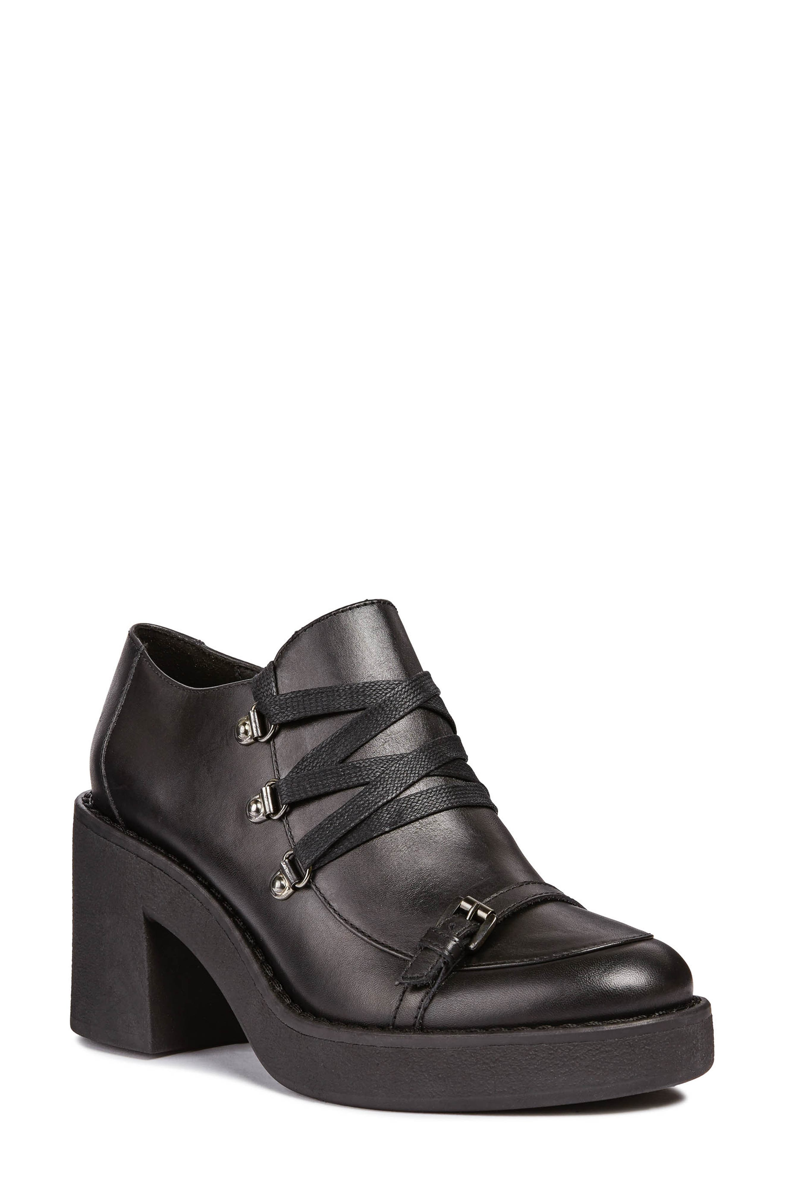 Adrya Bootie,                             Main thumbnail 1, color,                             BLACK LEATHER