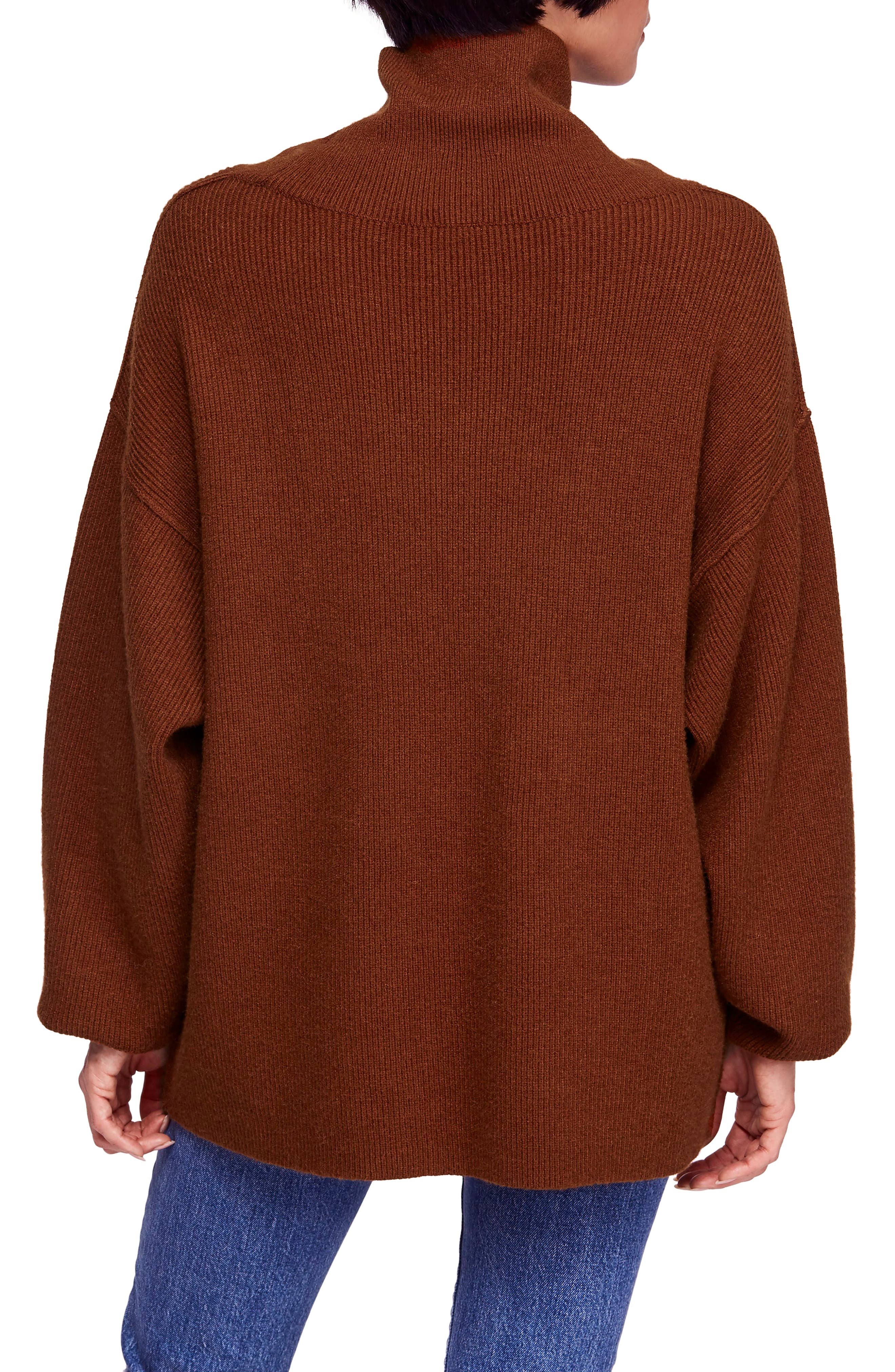 Softly Structured Knit Tunic,                             Alternate thumbnail 2, color,                             TERRACOTTA