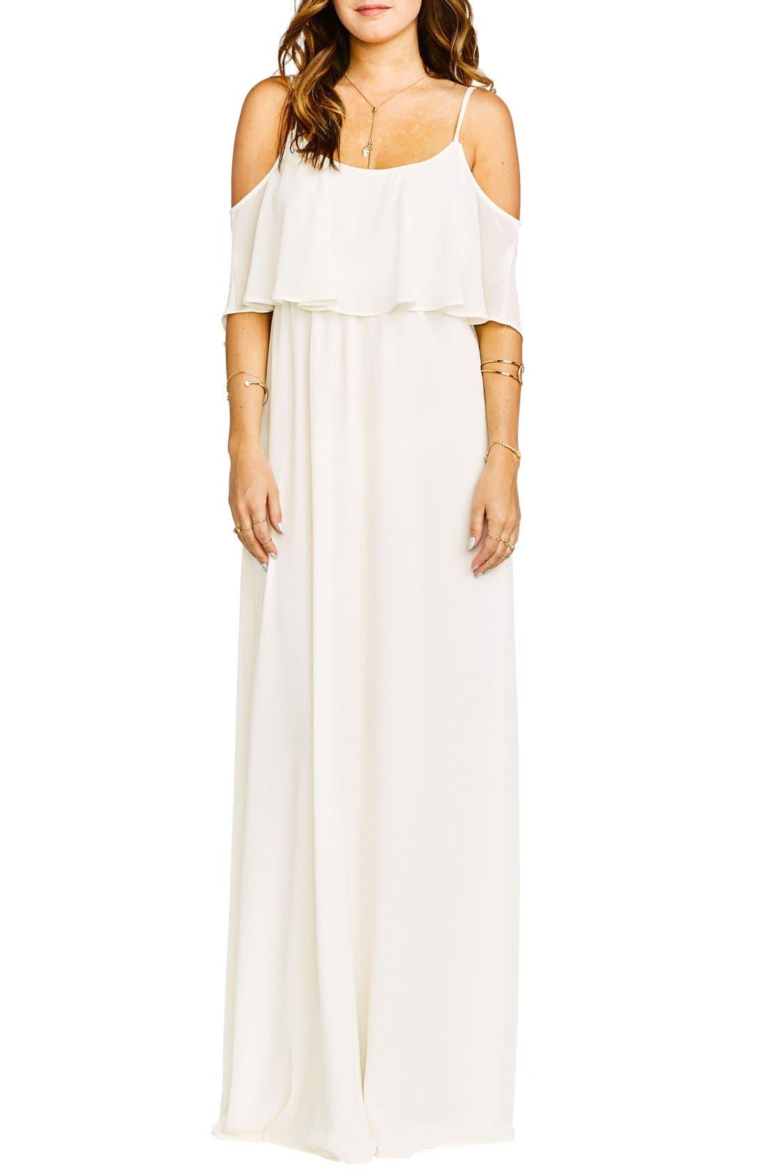 Caitlin Cold Shoulder Chiffon Gown,                             Main thumbnail 10, color,